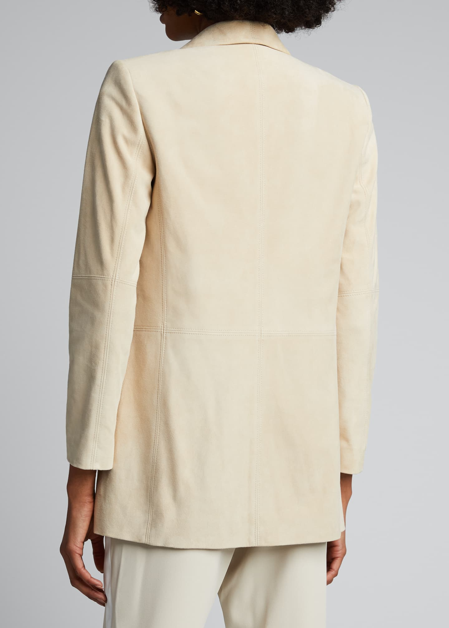 Image 2 of 4: Xavier Suede Draped Jacket