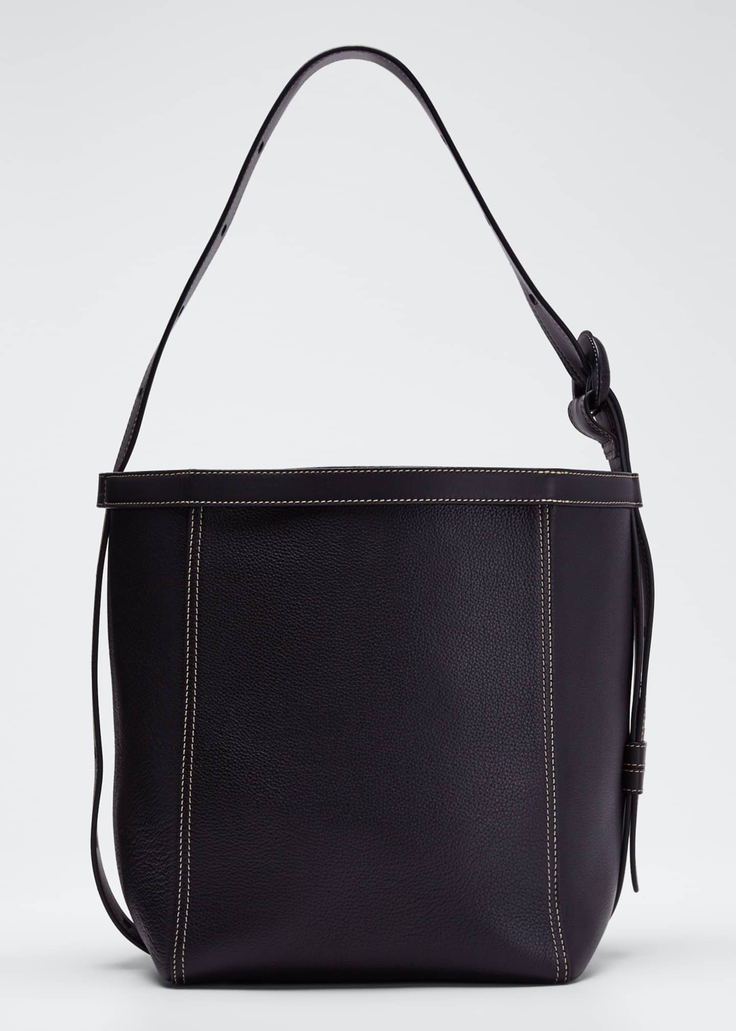 Image 1 of 4: Leather Tonne Hobo Bag