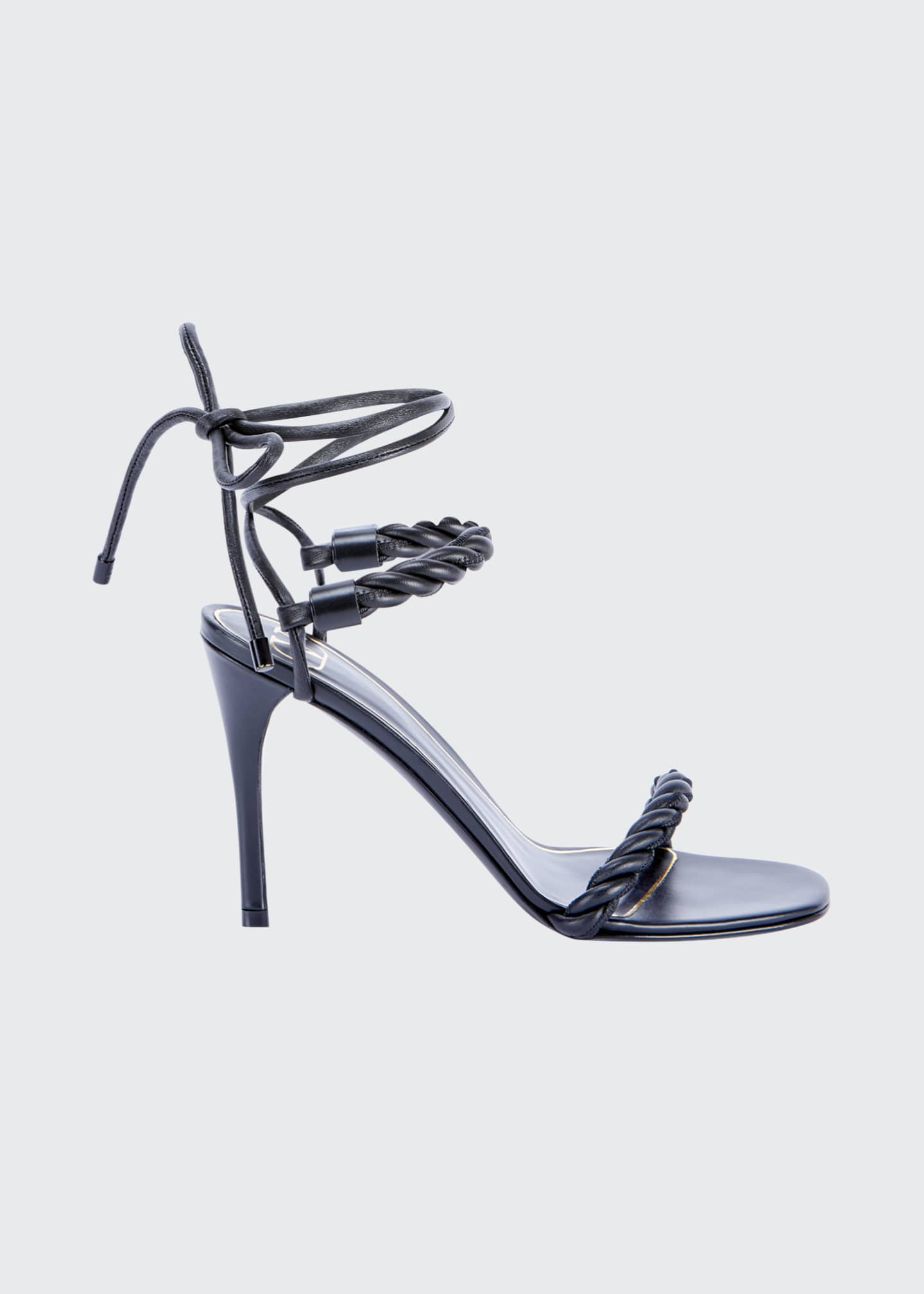 Image 1 of 3: 100mm The Rope Ankle-Tie Sandals