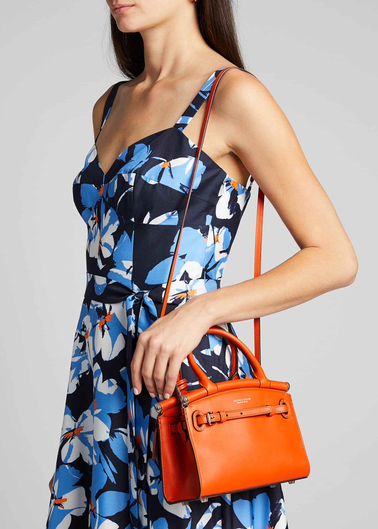 Image 2 of 5: Smooth Mini RL 50 Satchel Bag, Orange