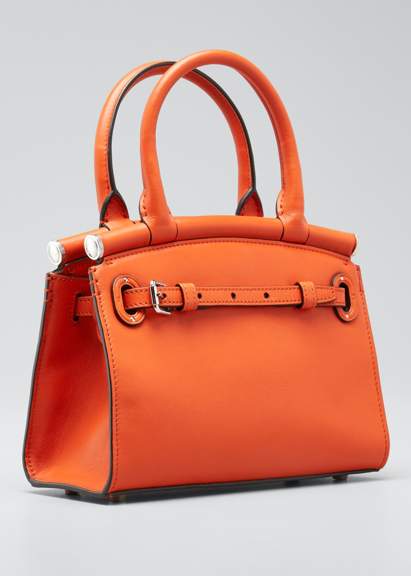 Image 3 of 5: Smooth Mini RL 50 Satchel Bag, Orange