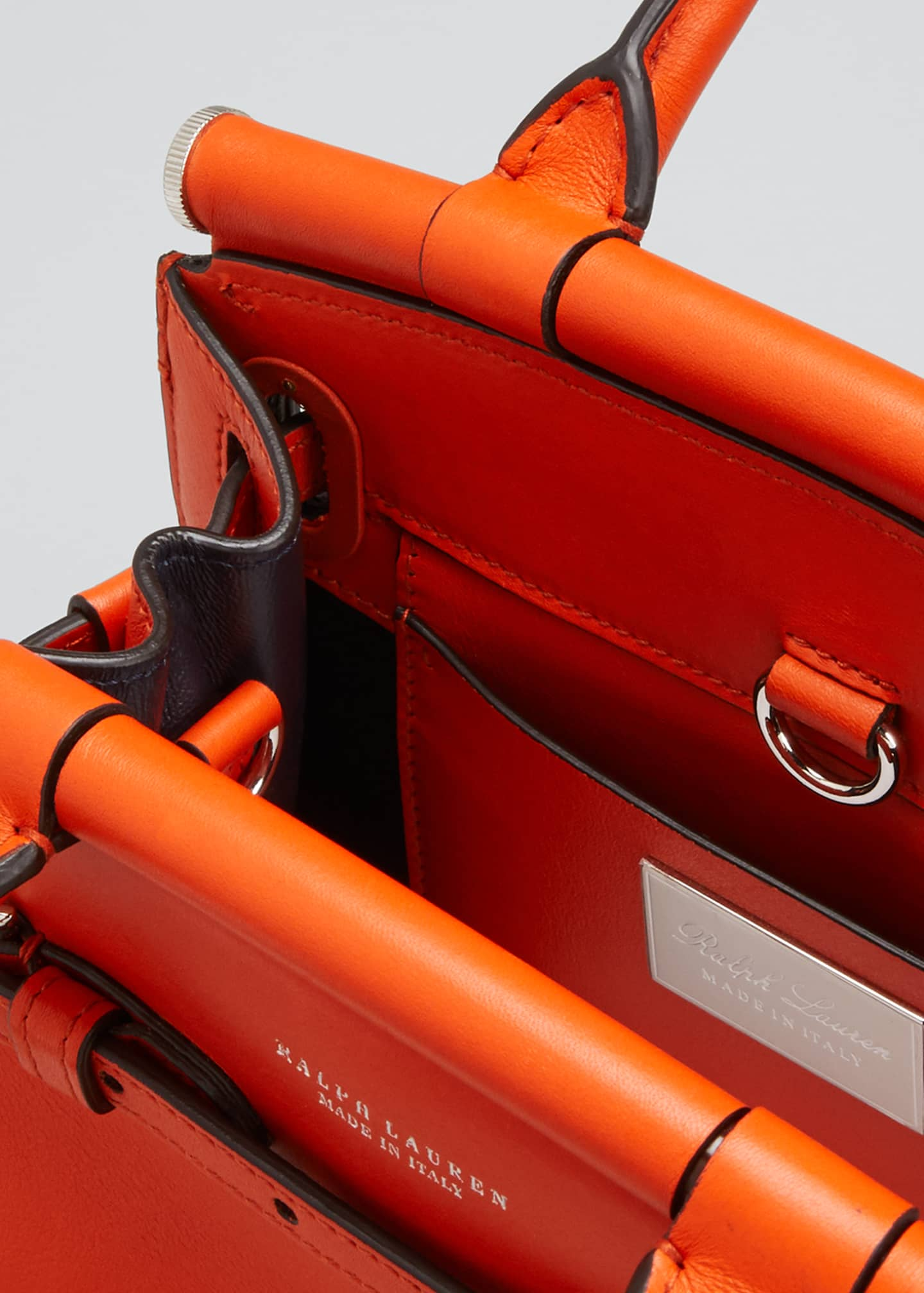 Image 4 of 5: Smooth Mini RL 50 Satchel Bag, Orange