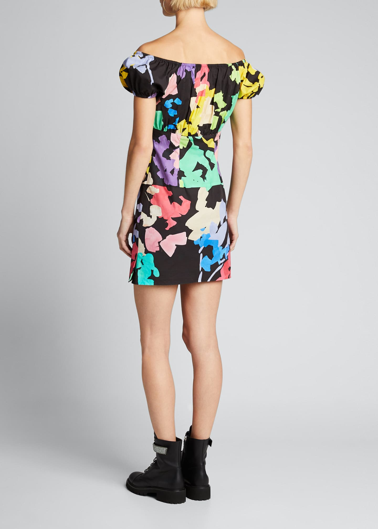 Image 2 of 5: Calla Printed Off-Shoulder Mini Dress