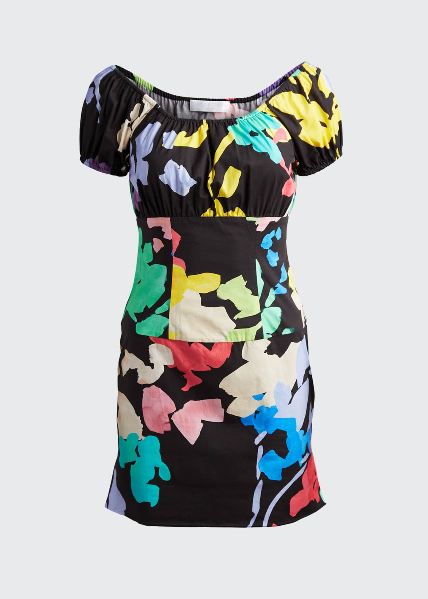 Image 5 of 5: Calla Printed Off-Shoulder Mini Dress