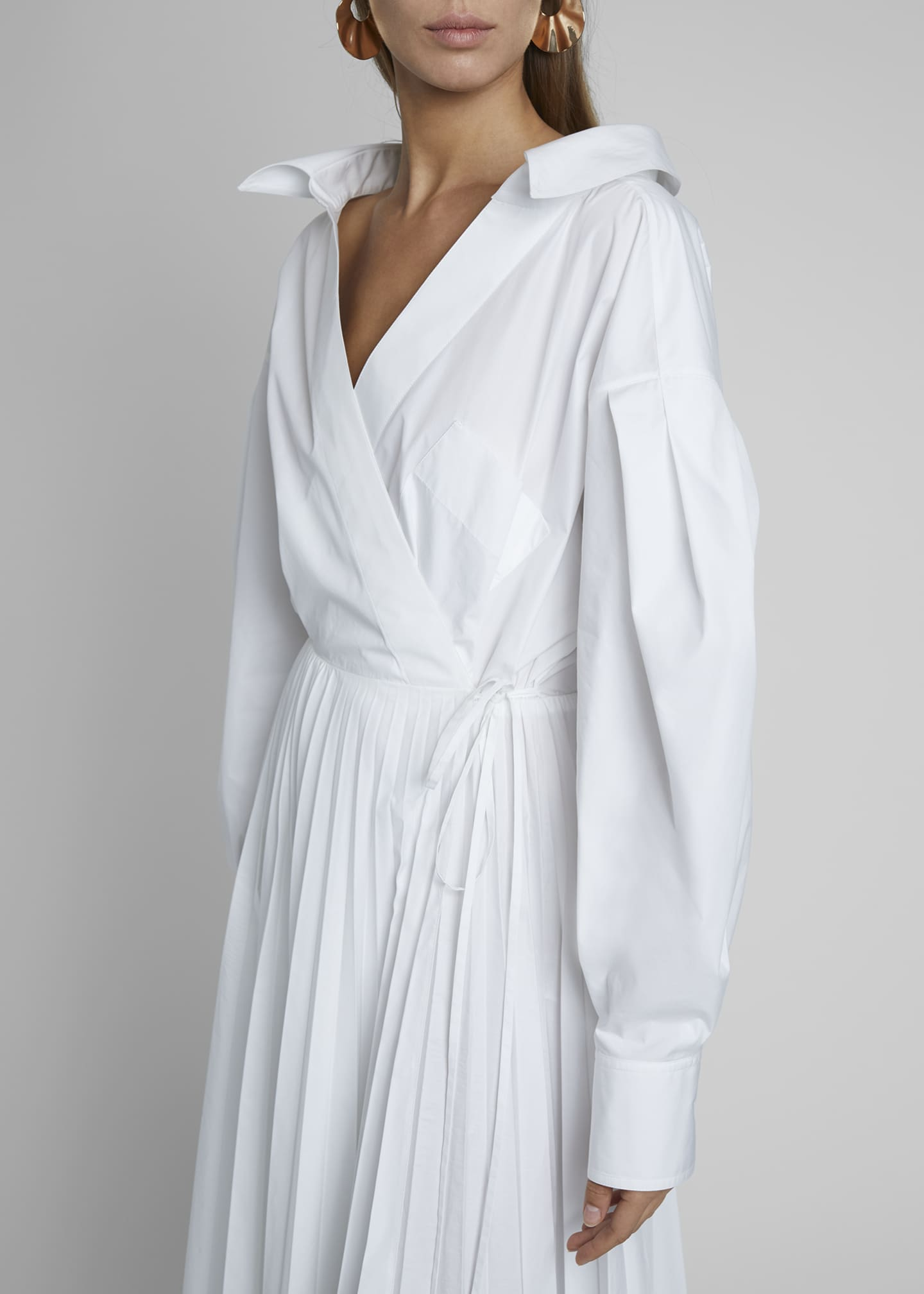 Image 4 of 4: Puff-Sleeve Wrap Dress