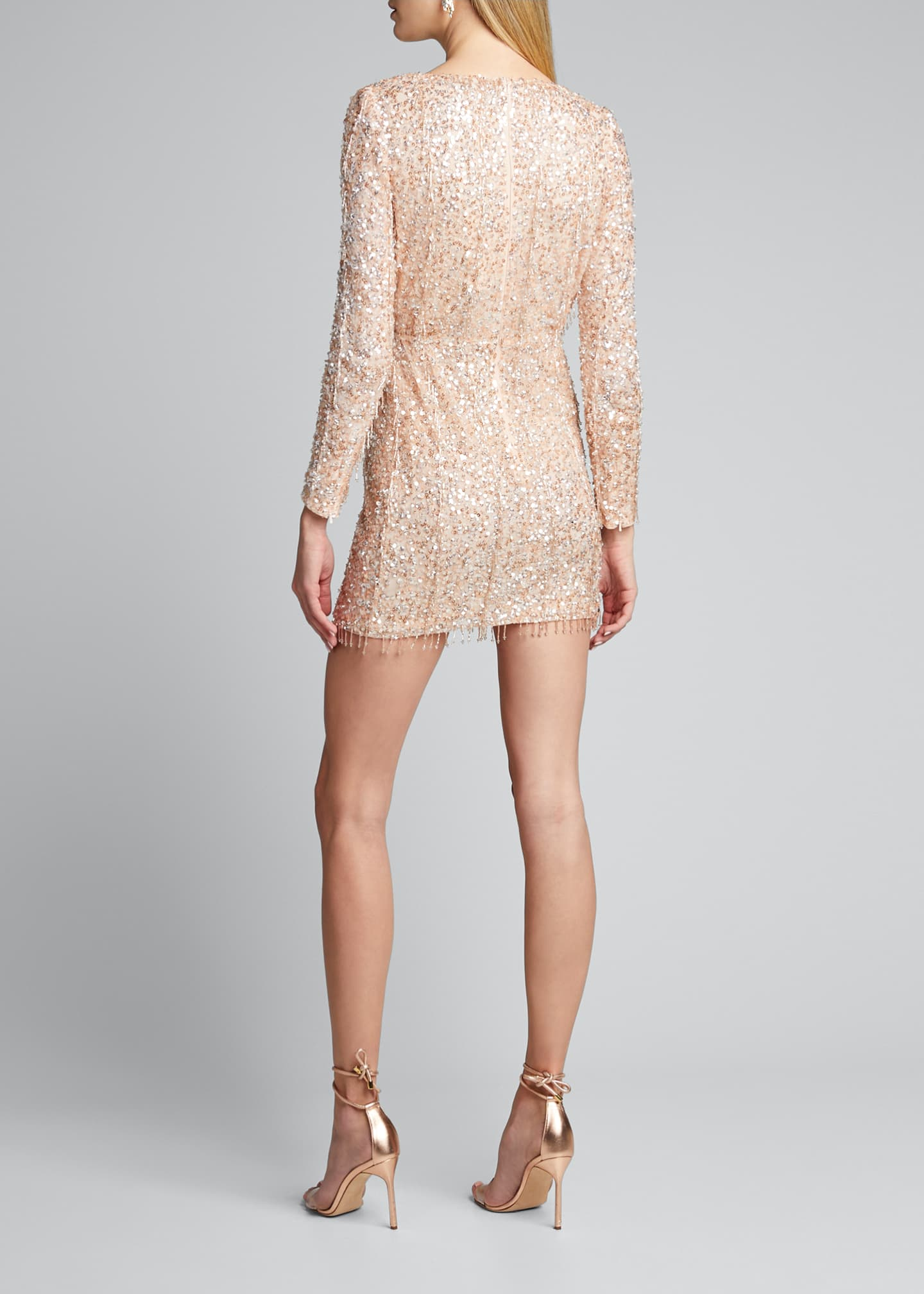 Image 2 of 5: Embellished Long-Sleeve Dress