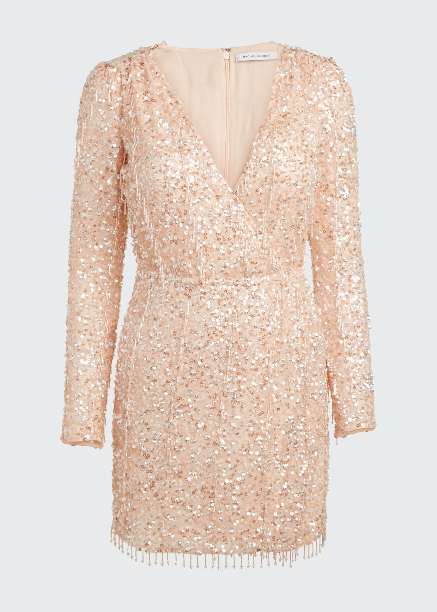 Image 5 of 5: Embellished Long-Sleeve Dress