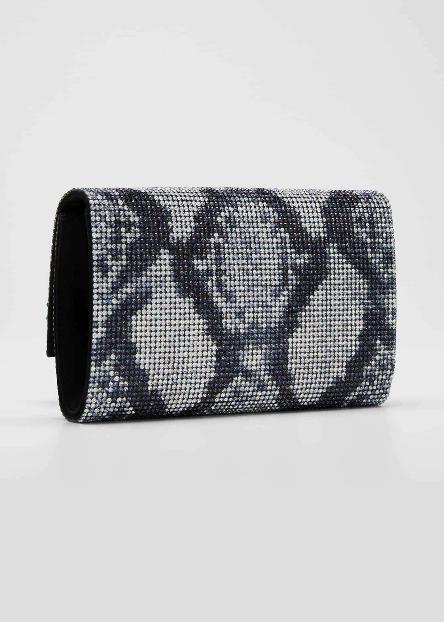 Image 3 of 5: Fizzoni Crystal Clutch Bag with Shoulder Strap