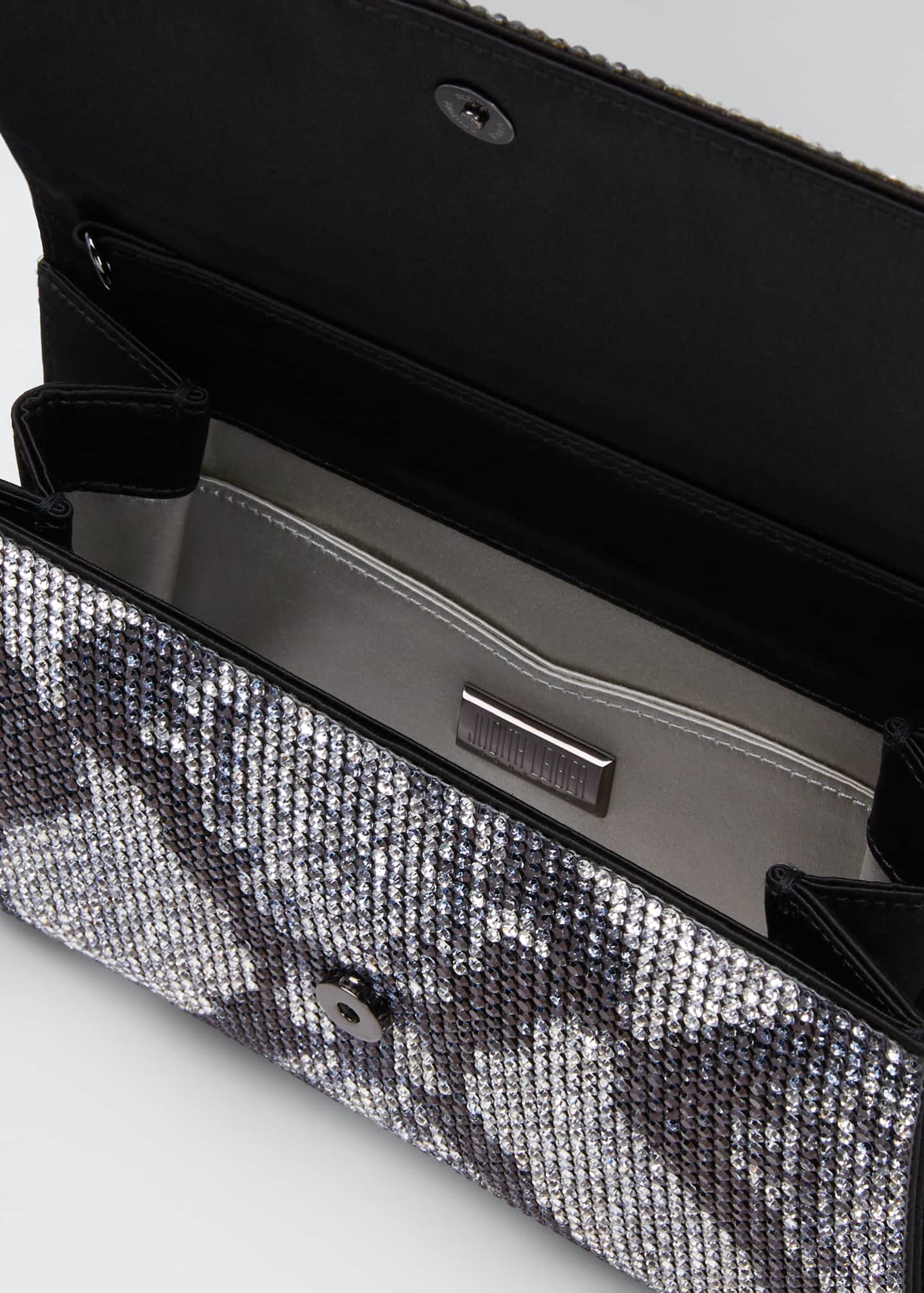 Image 4 of 5: Fizzoni Crystal Clutch Bag with Shoulder Strap