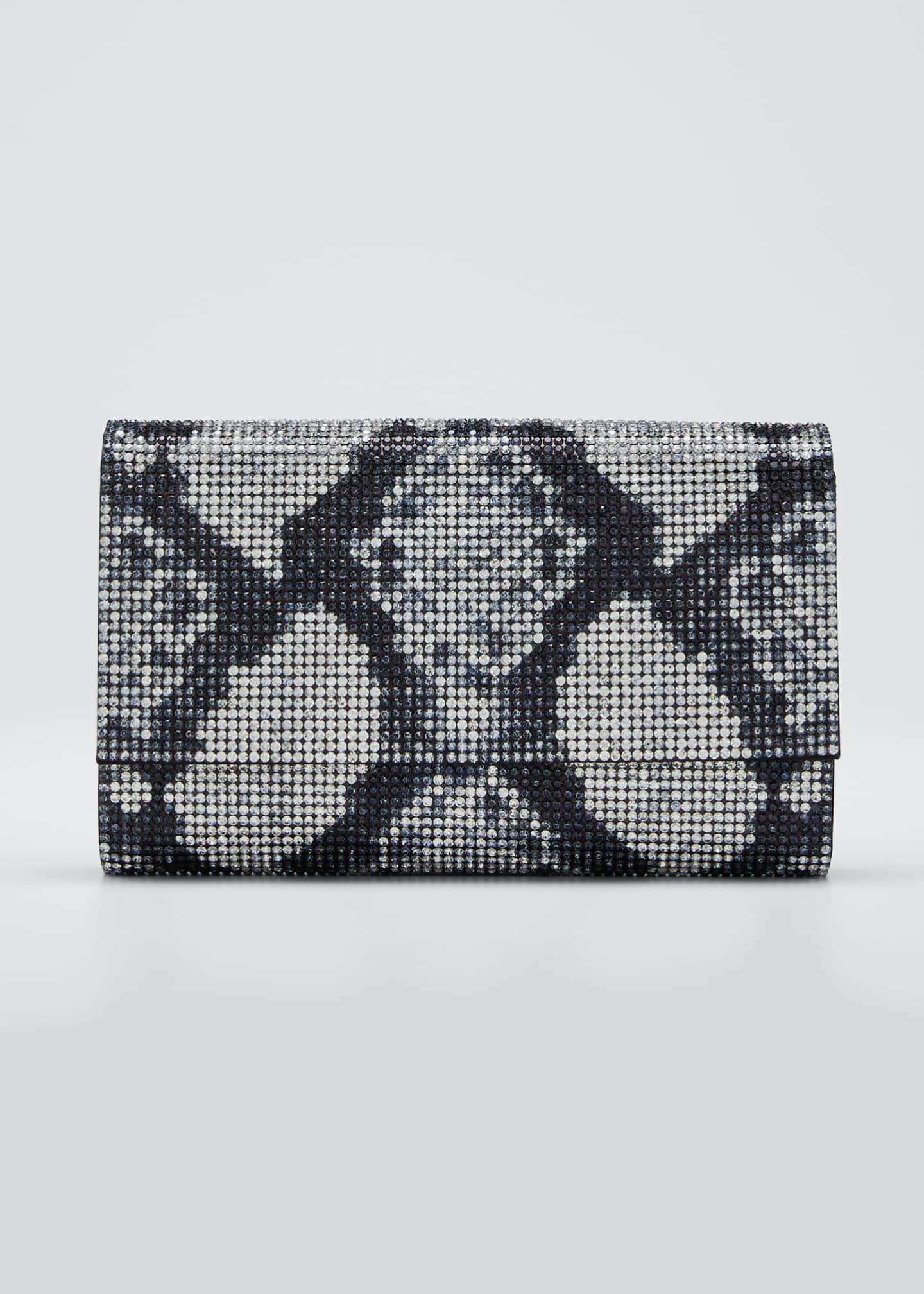 Image 1 of 5: Fizzoni Crystal Clutch Bag with Shoulder Strap