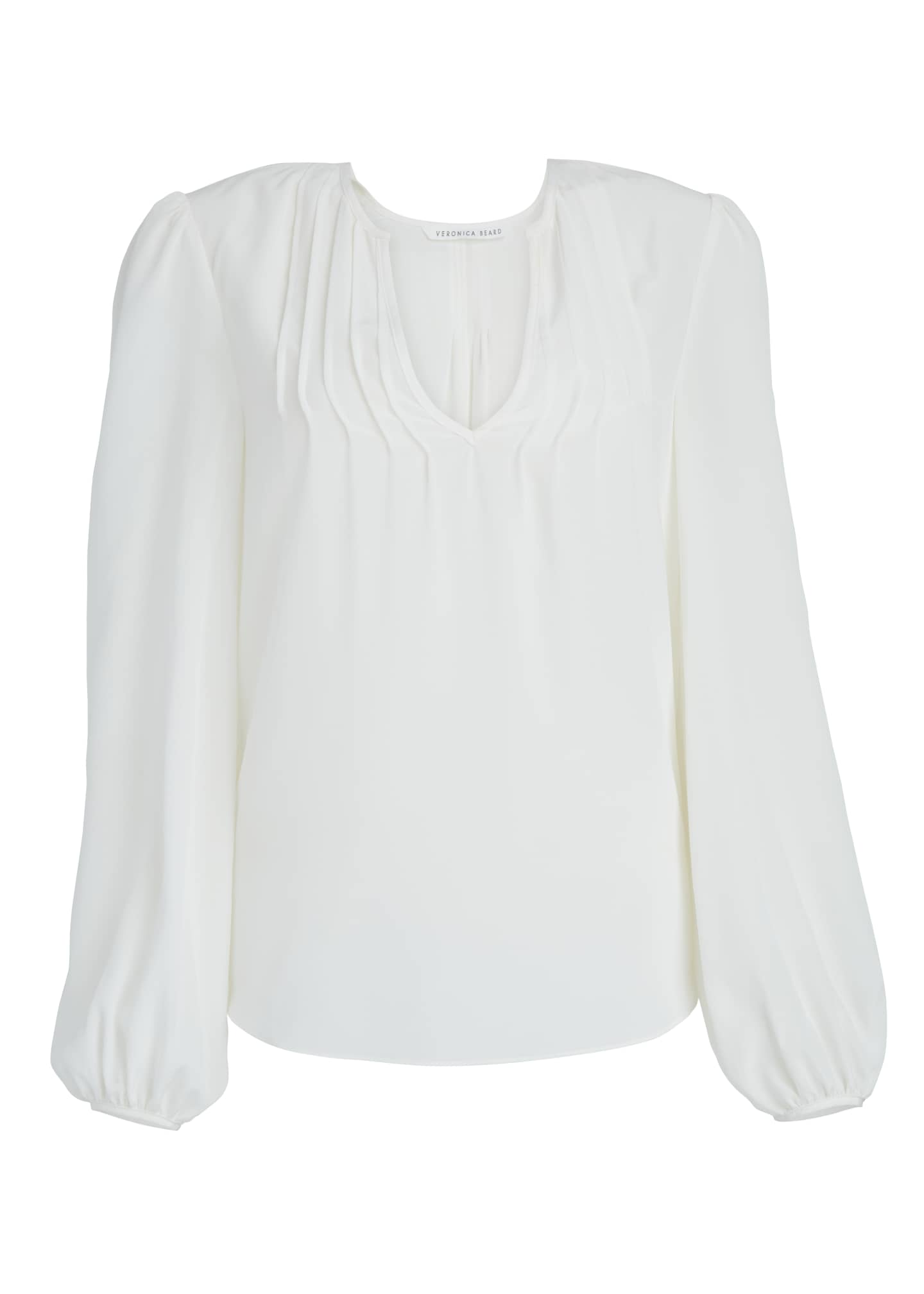 Image 5 of 5: Staci Silk V-Neck Top