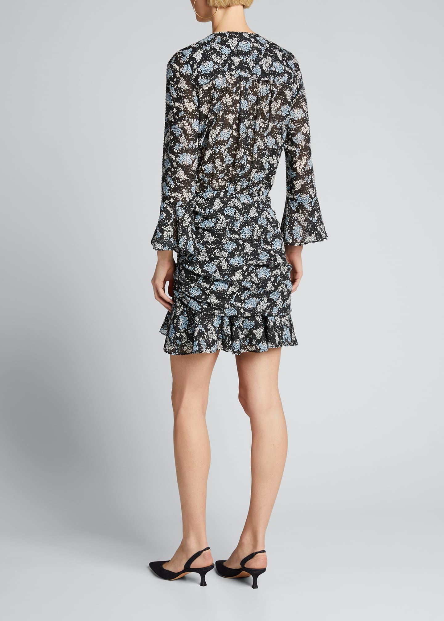 Image 2 of 5: Sean Ruched Floral-Print Dress