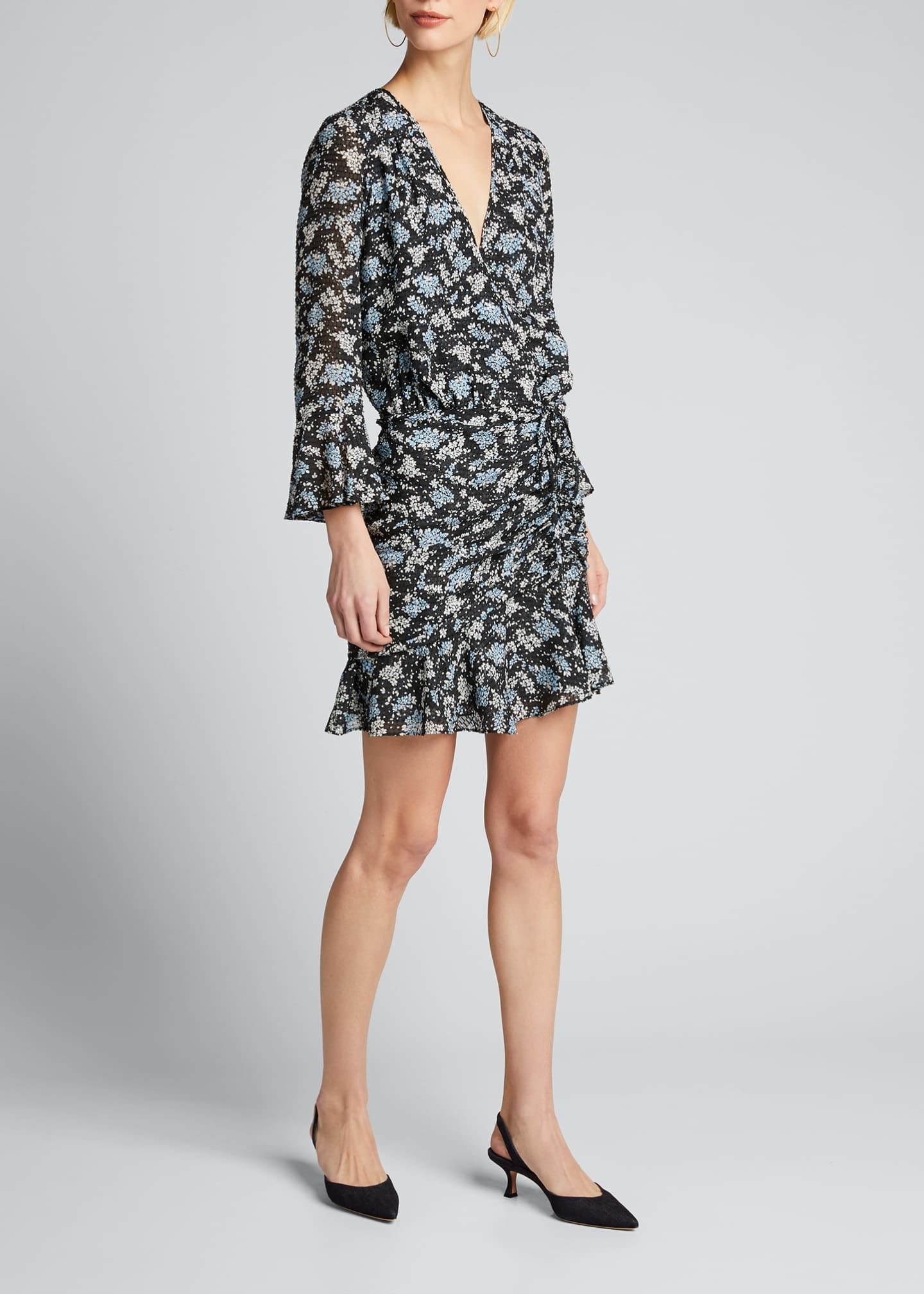 Image 3 of 5: Sean Ruched Floral-Print Dress