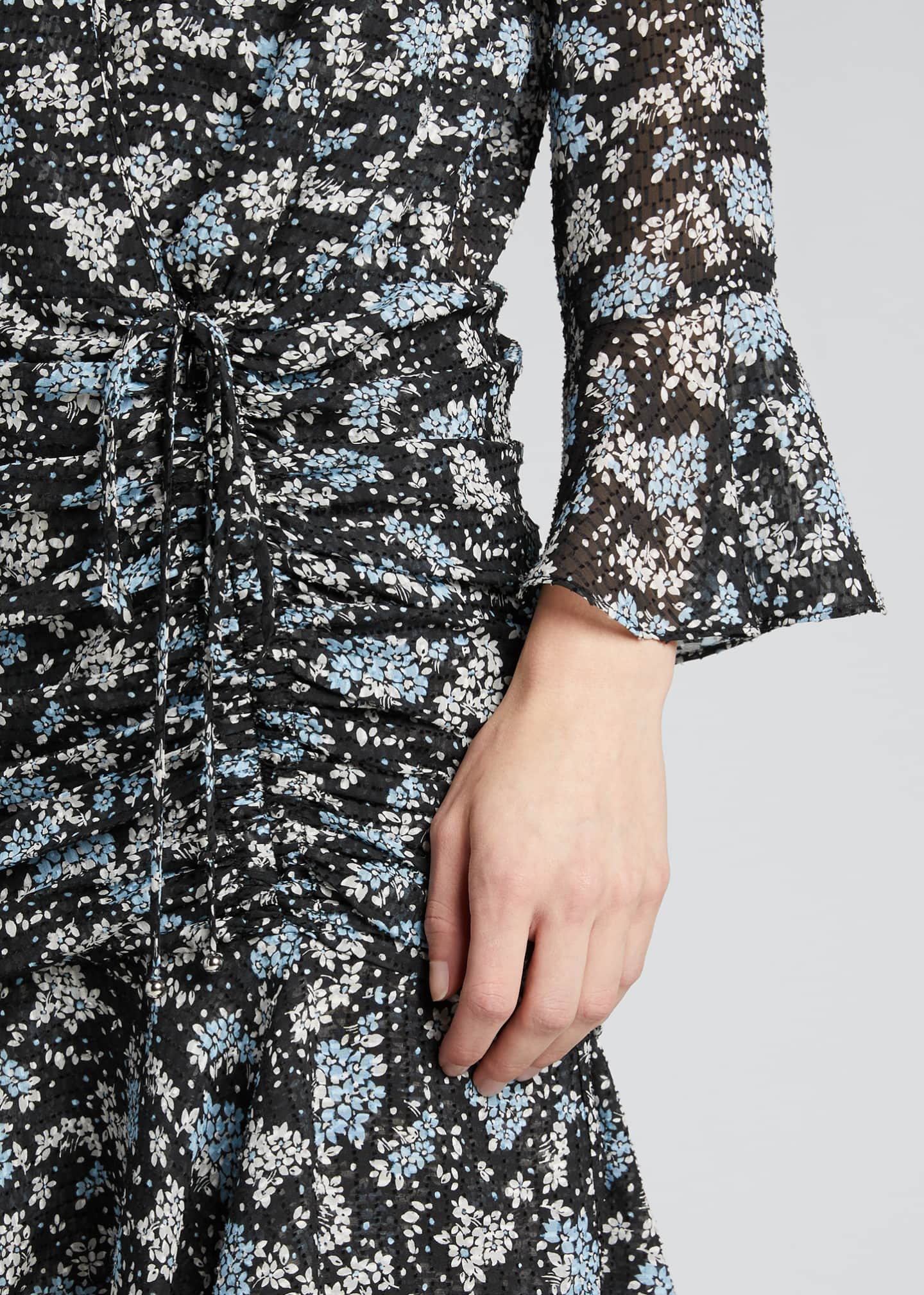 Image 4 of 5: Sean Ruched Floral-Print Dress
