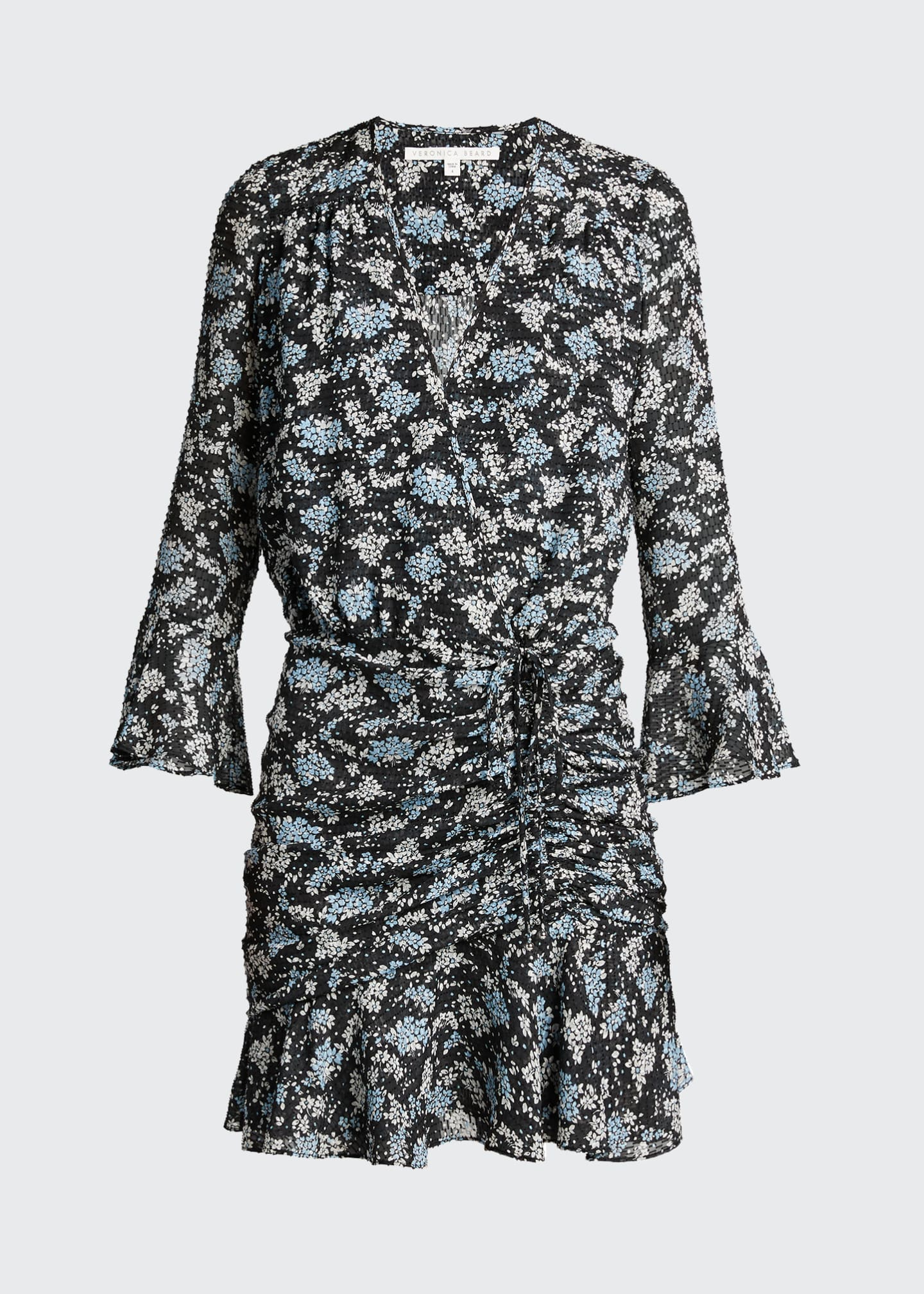 Image 5 of 5: Sean Ruched Floral-Print Dress