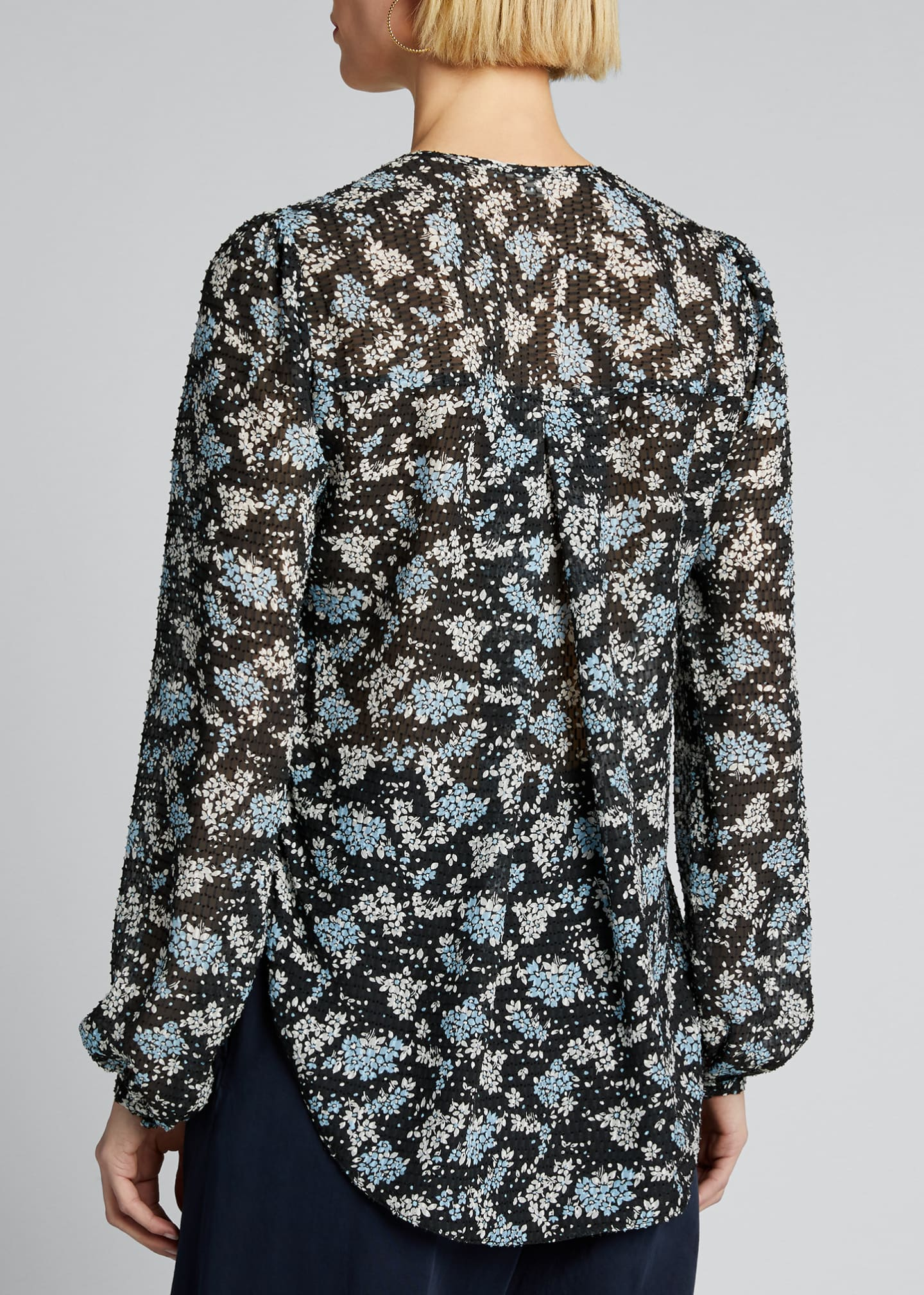 Image 2 of 5: Lowell V-Neck Floral-Print Blouse