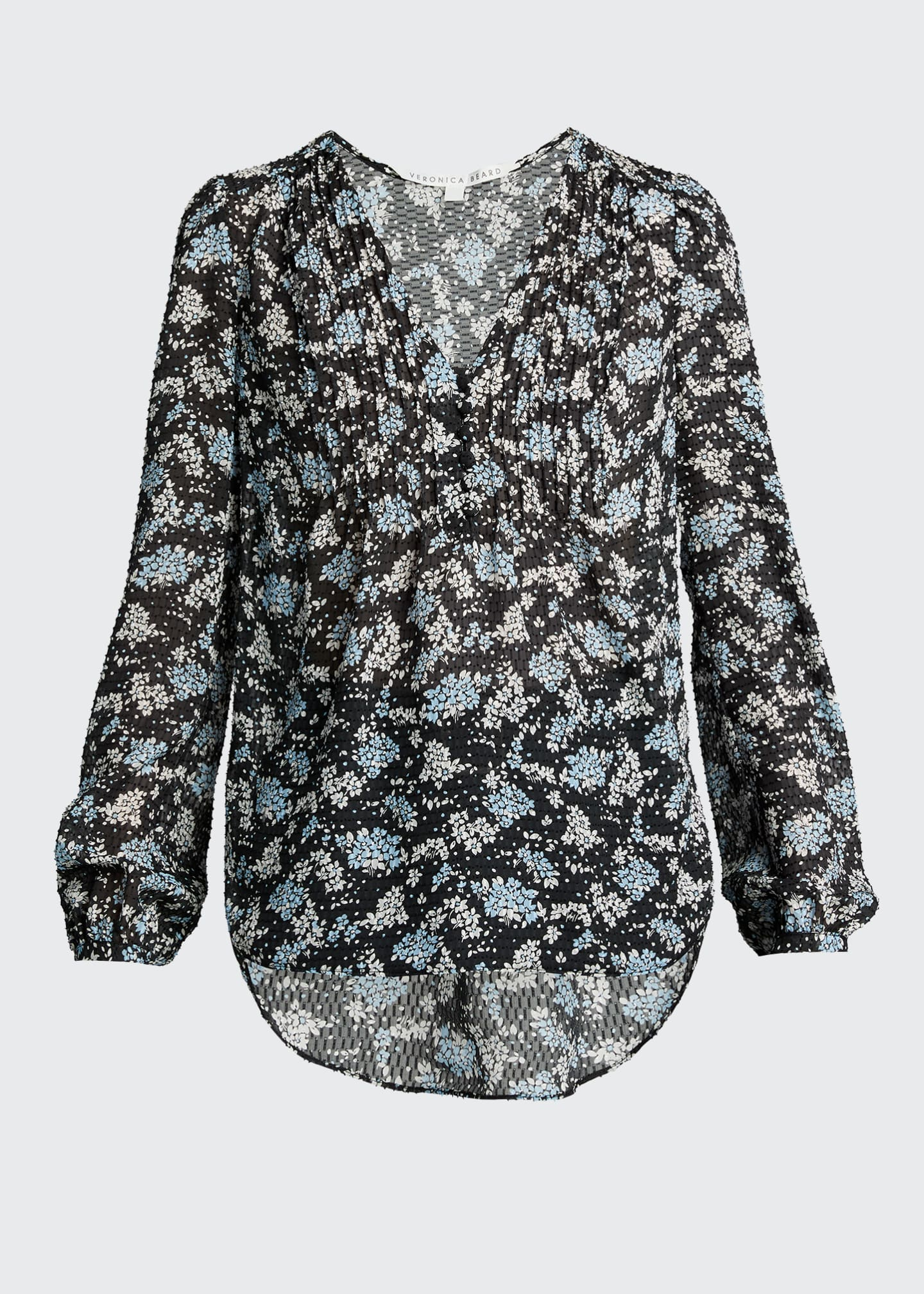 Image 5 of 5: Lowell V-Neck Floral-Print Blouse