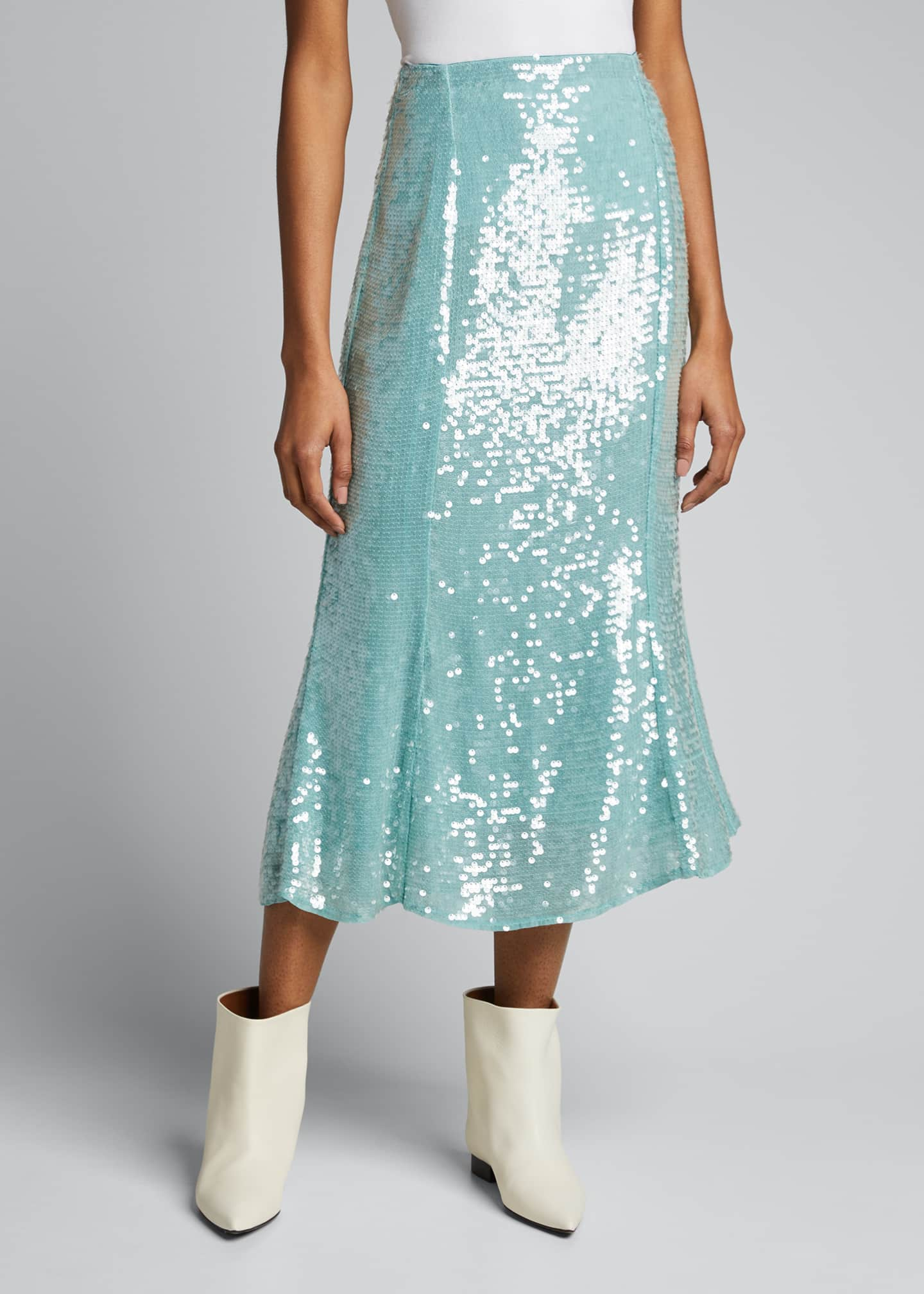 Image 3 of 5: Abigail Sequined Midi Skirt