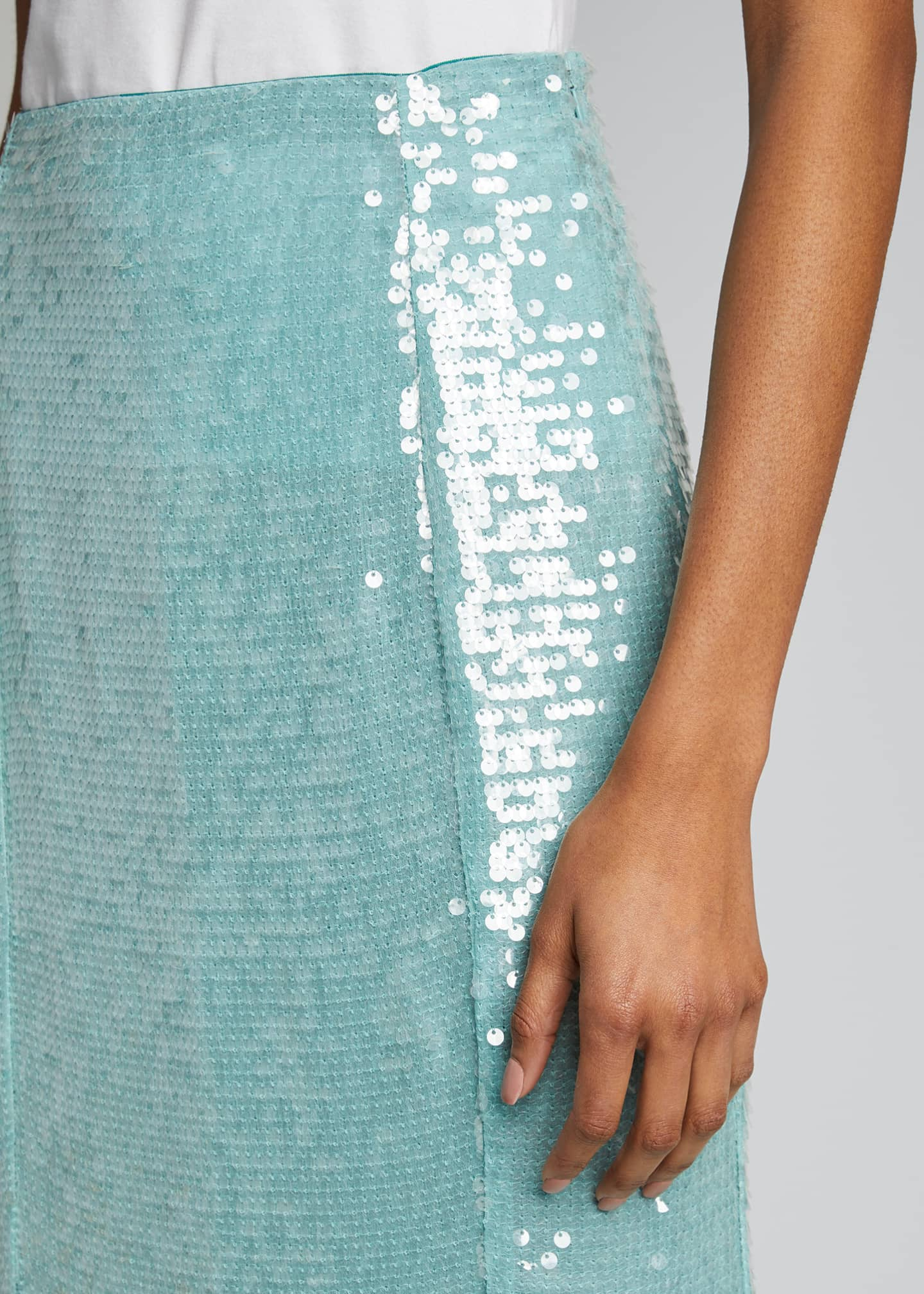Image 4 of 5: Abigail Sequined Midi Skirt