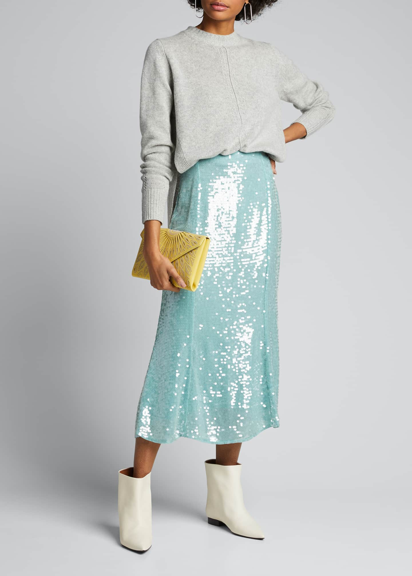 Image 1 of 5: Abigail Sequined Midi Skirt