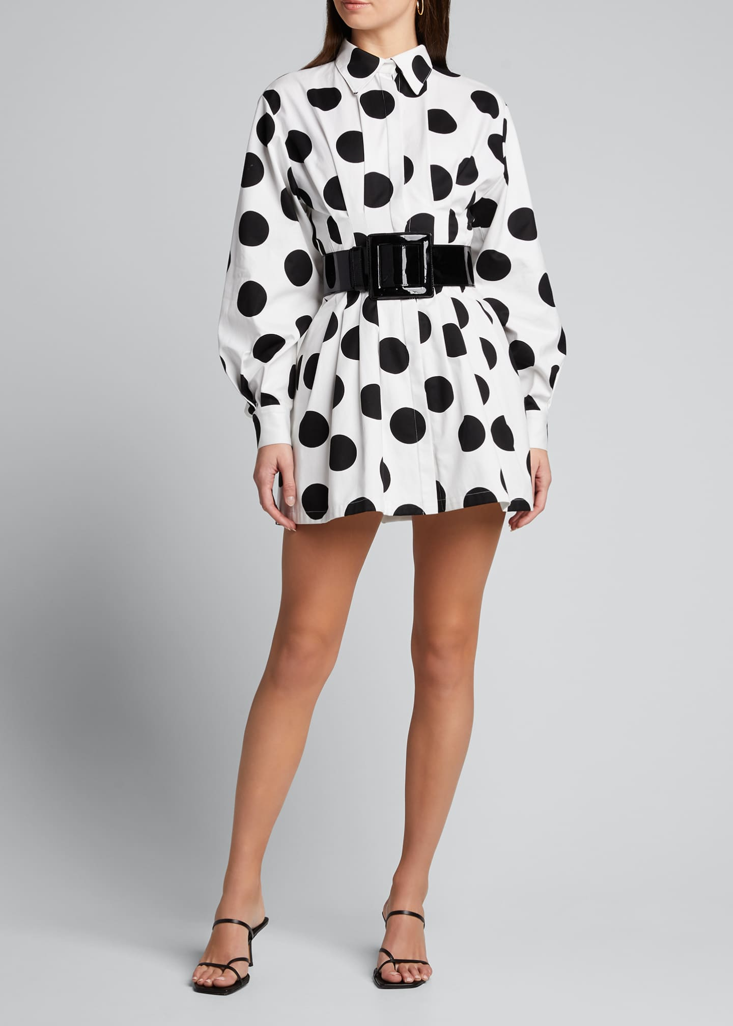 Image 3 of 5: Polka-Dot Shirtdress