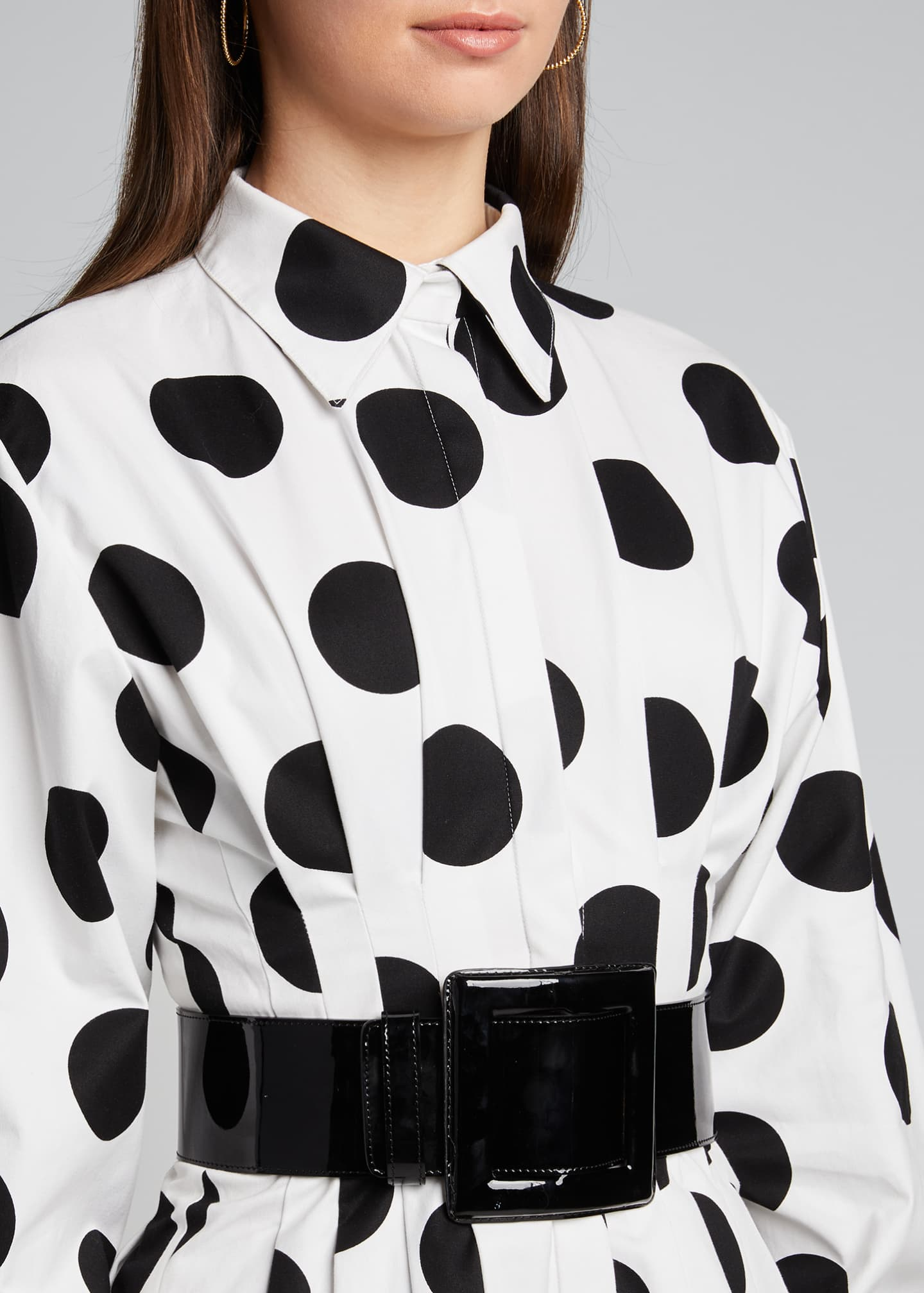 Image 4 of 5: Polka-Dot Shirtdress