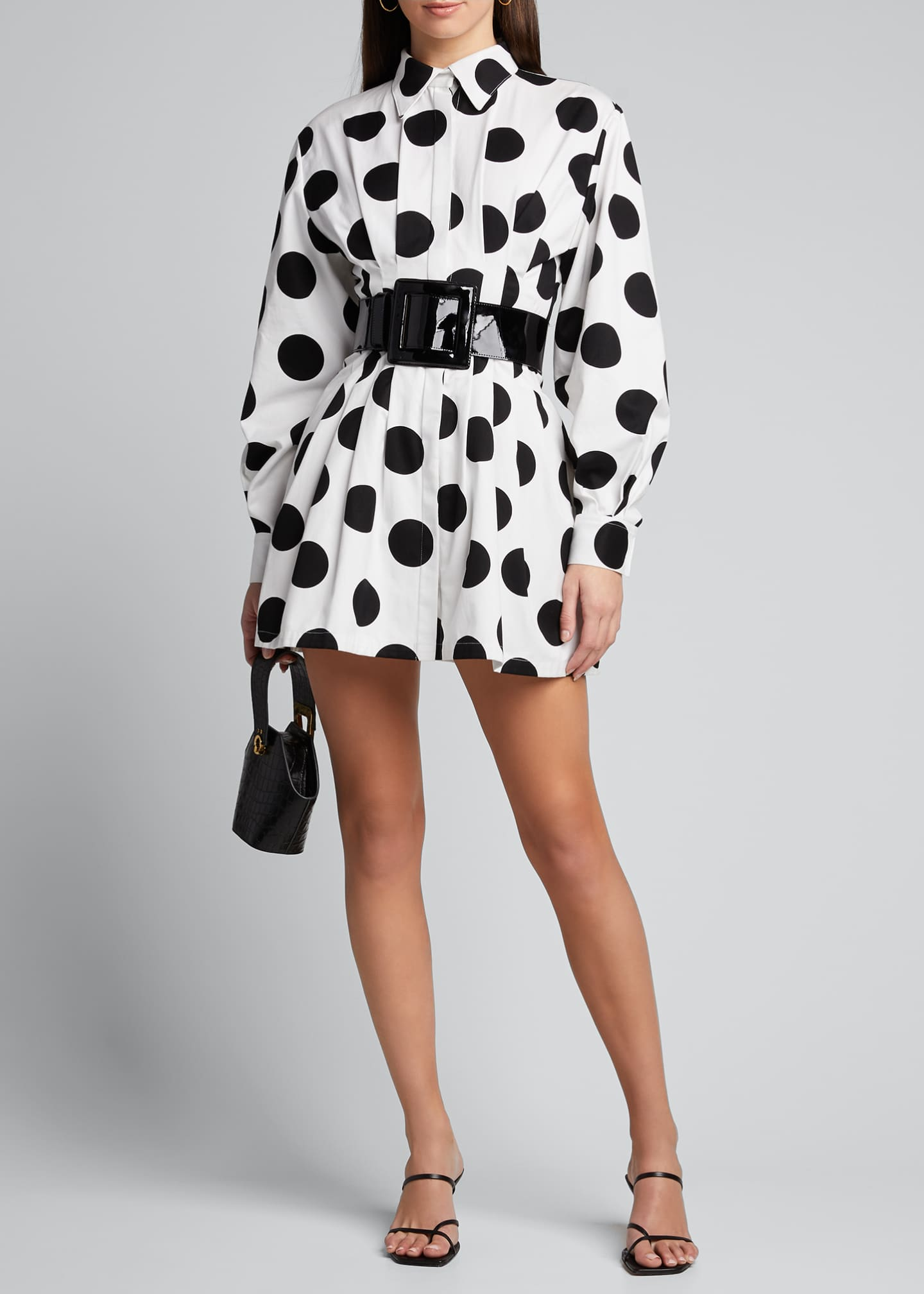 Image 1 of 5: Polka-Dot Shirtdress
