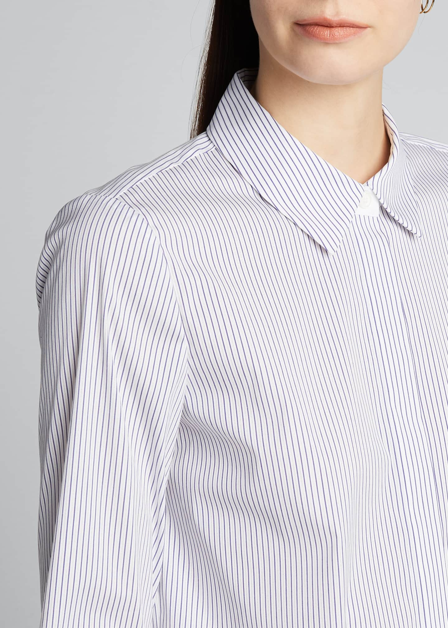 Image 4 of 5: Scottie Long-Sleeve Felicity Stripe Blouse