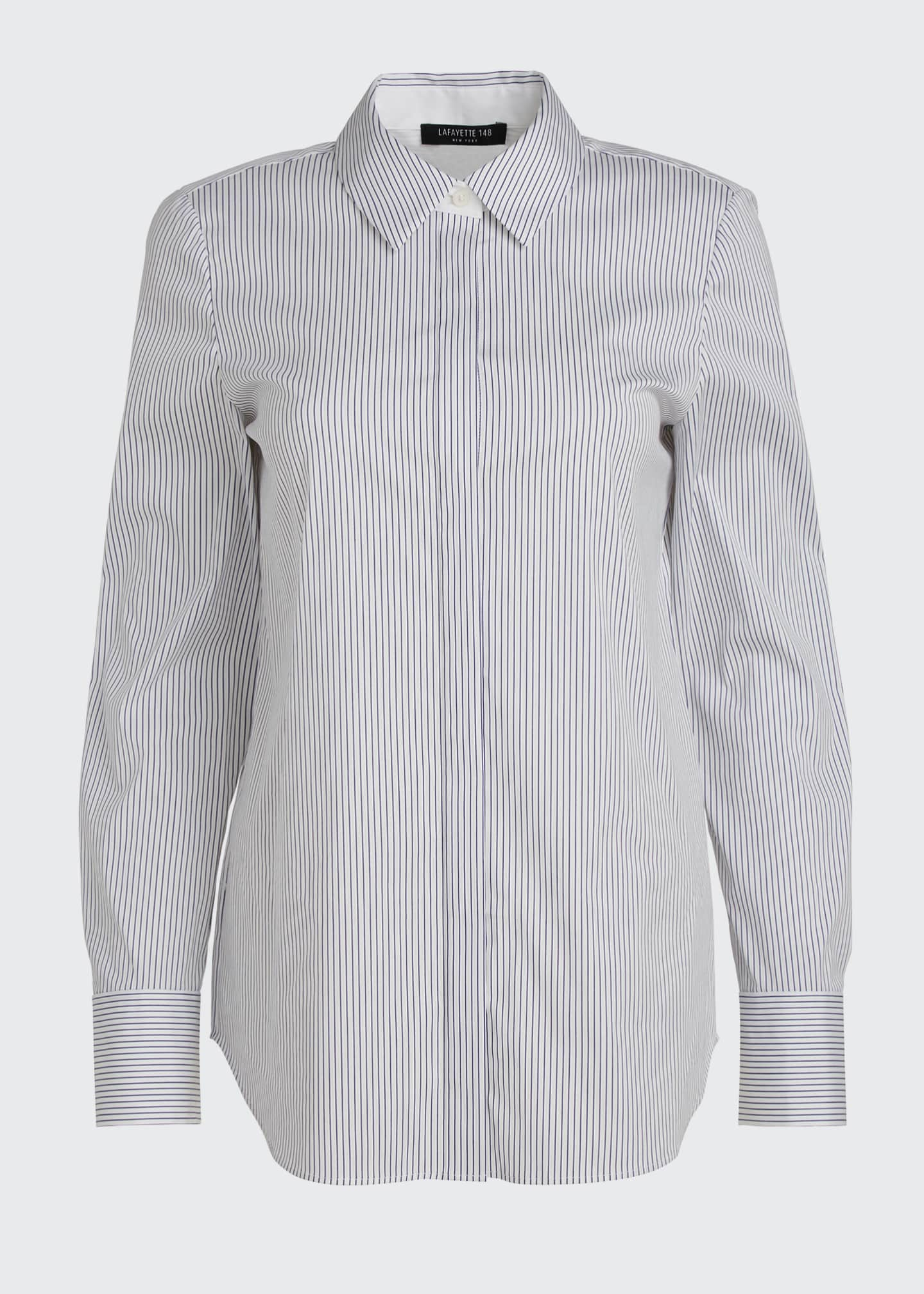 Image 5 of 5: Scottie Long-Sleeve Felicity Stripe Blouse