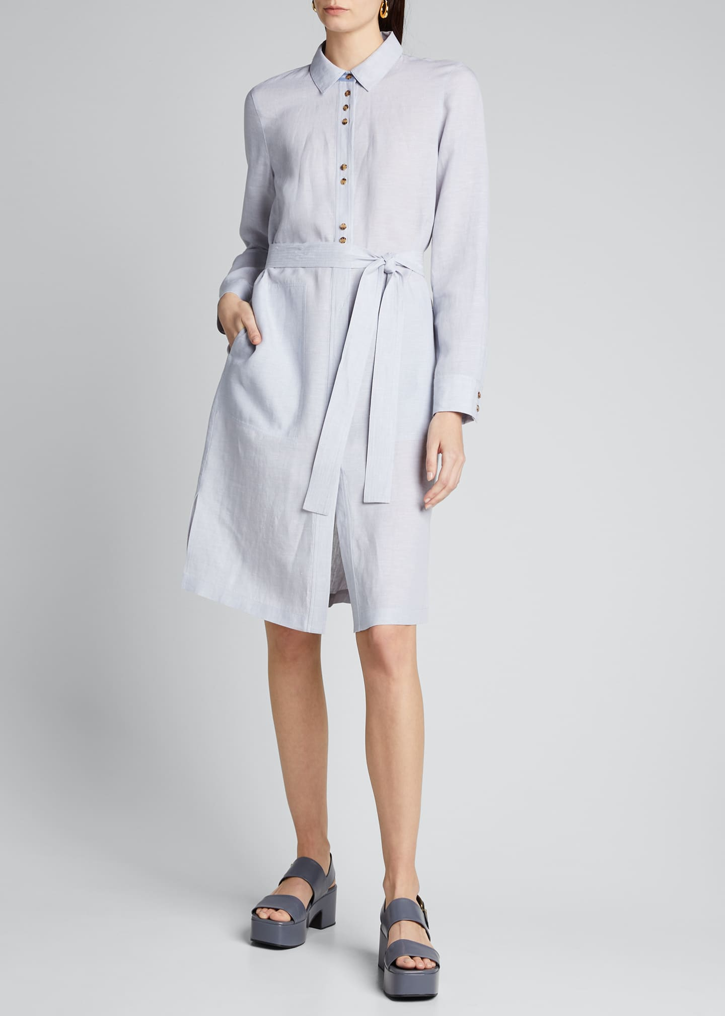 Image 3 of 5: Michlle Illustrious Linen Duster Dress