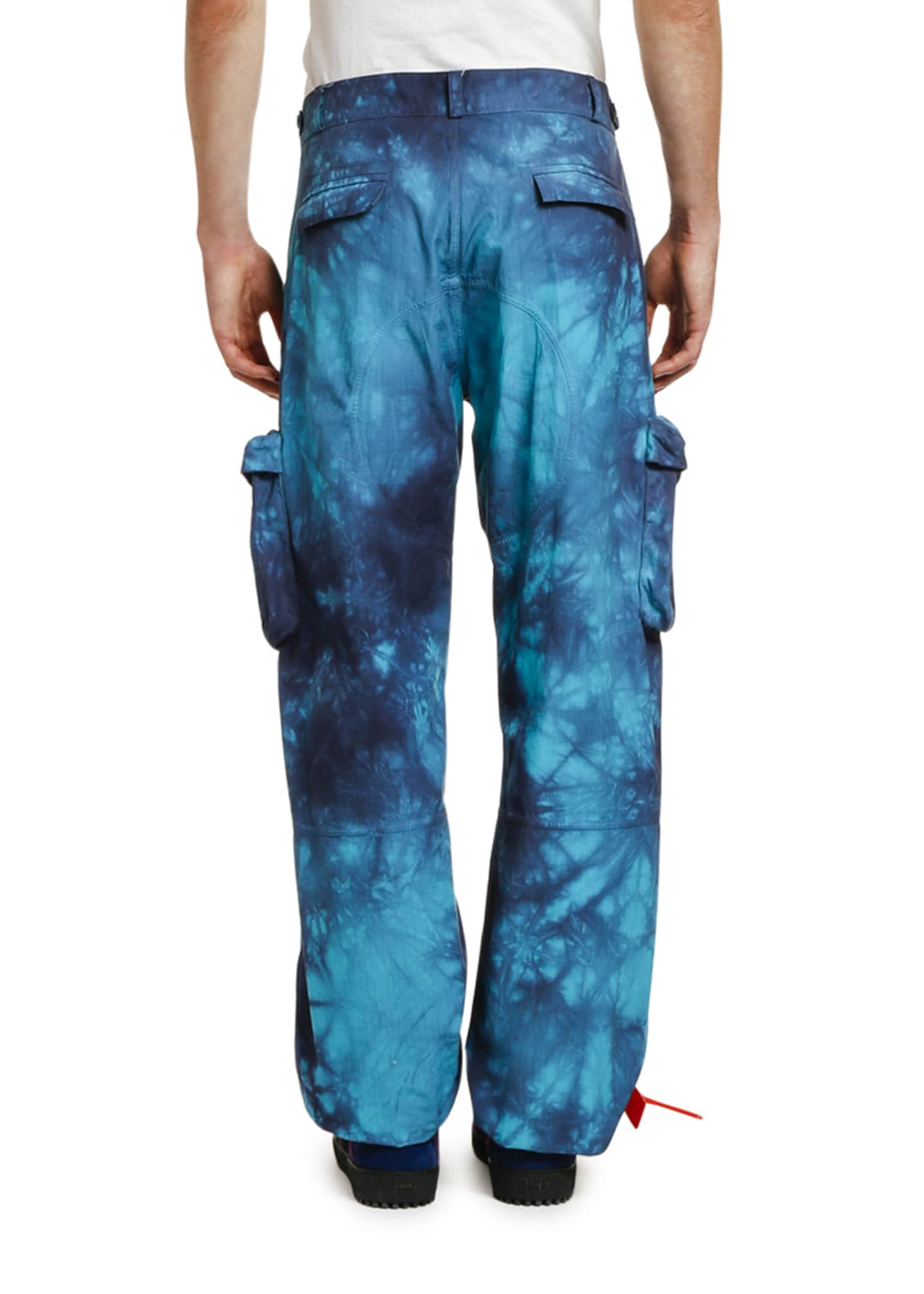 Image 2 of 3: Men's Ripstop Tie-Dye Cargo Pants
