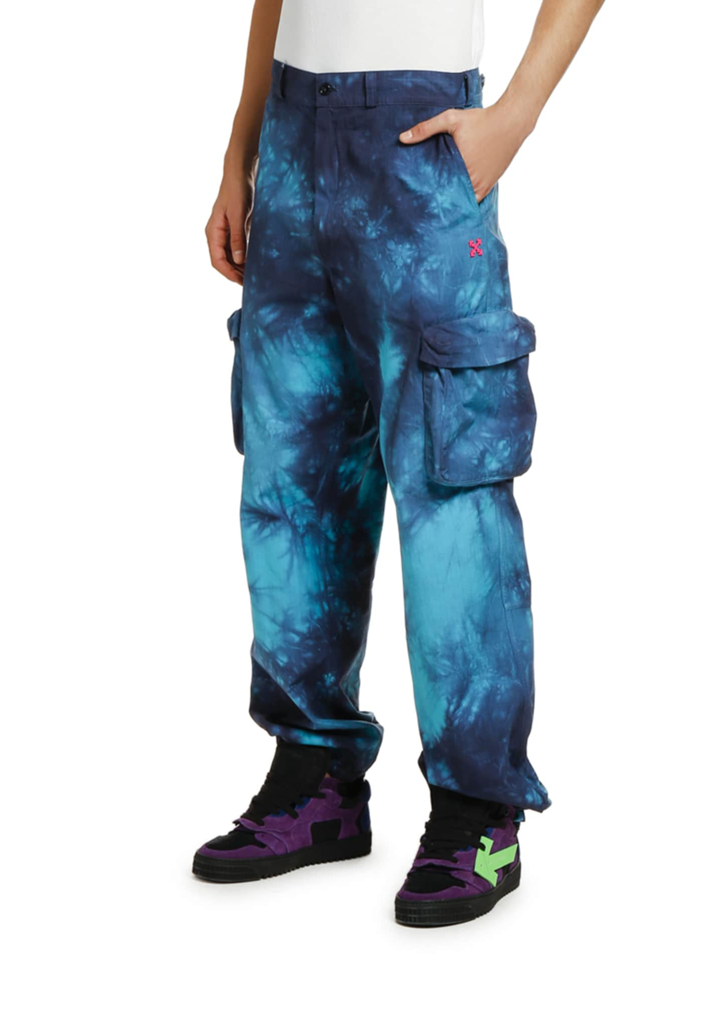 Image 3 of 3: Men's Ripstop Tie-Dye Cargo Pants