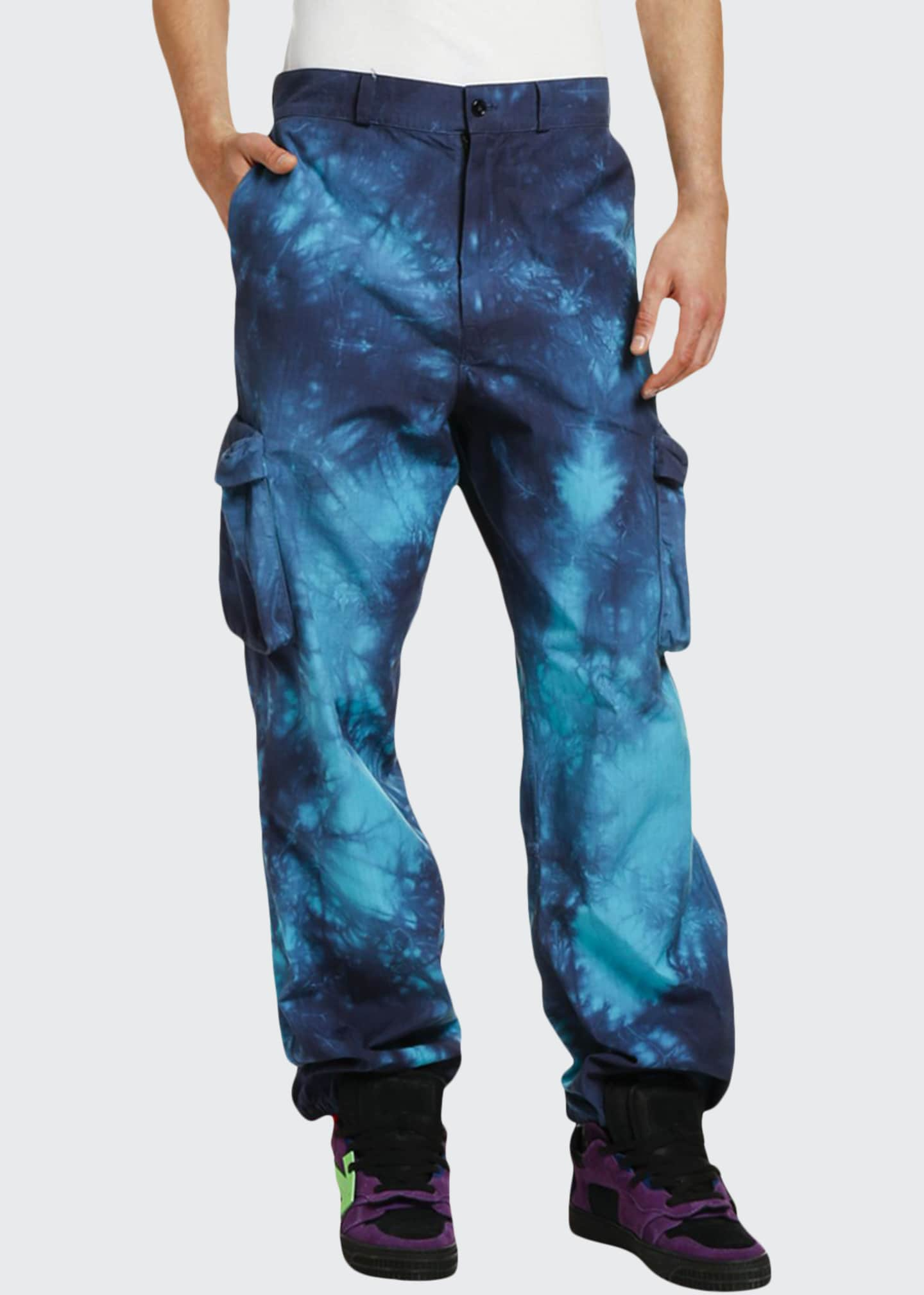 Image 1 of 3: Men's Ripstop Tie-Dye Cargo Pants