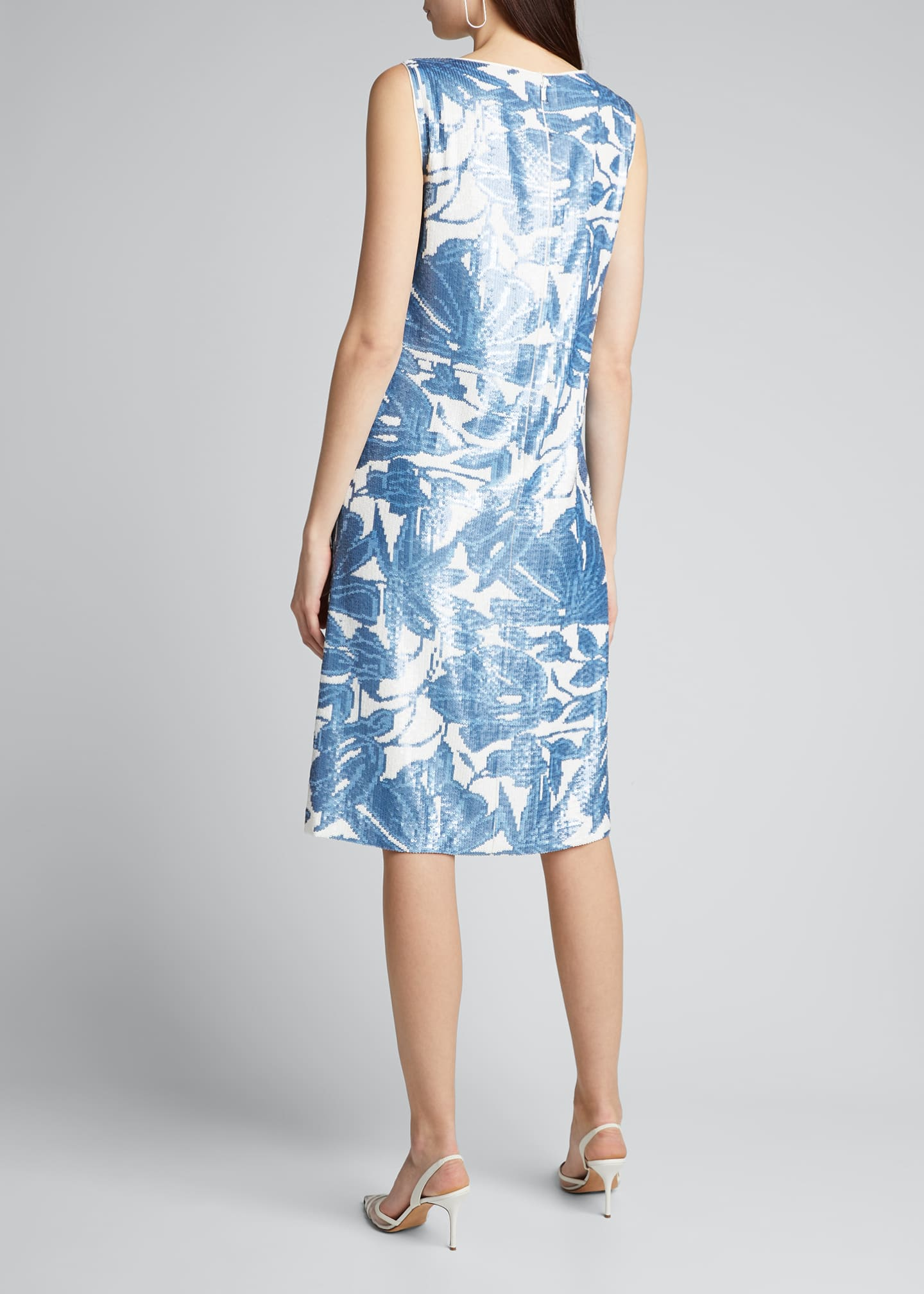 Image 2 of 5: Noah Floral Sequined Sleeveless Dress