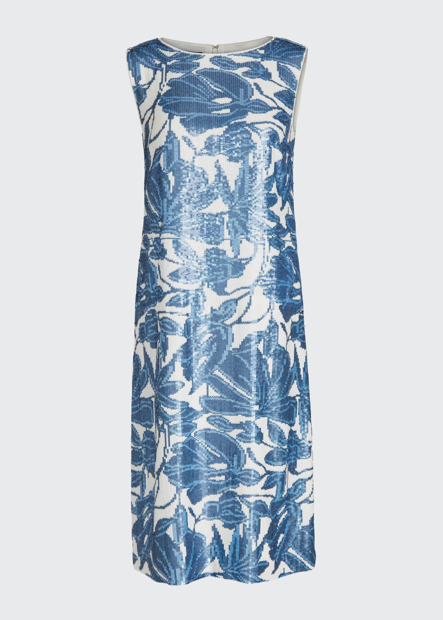 Image 5 of 5: Noah Floral Sequined Sleeveless Dress