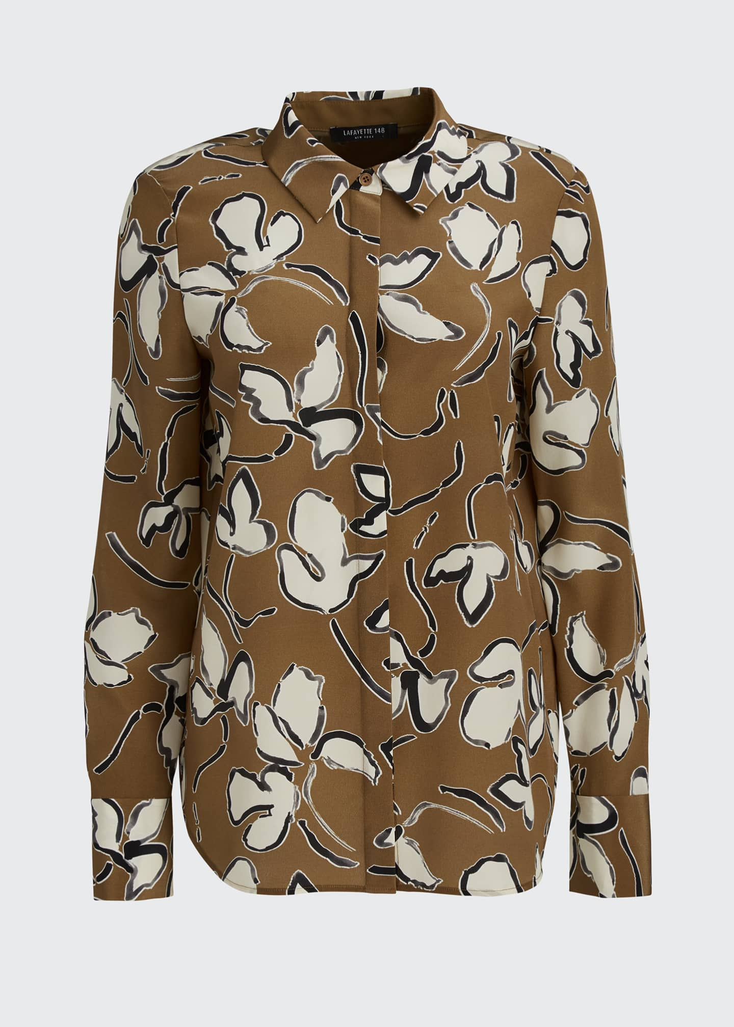 Image 5 of 5: Scottie Tossed Vine Printed Blouse