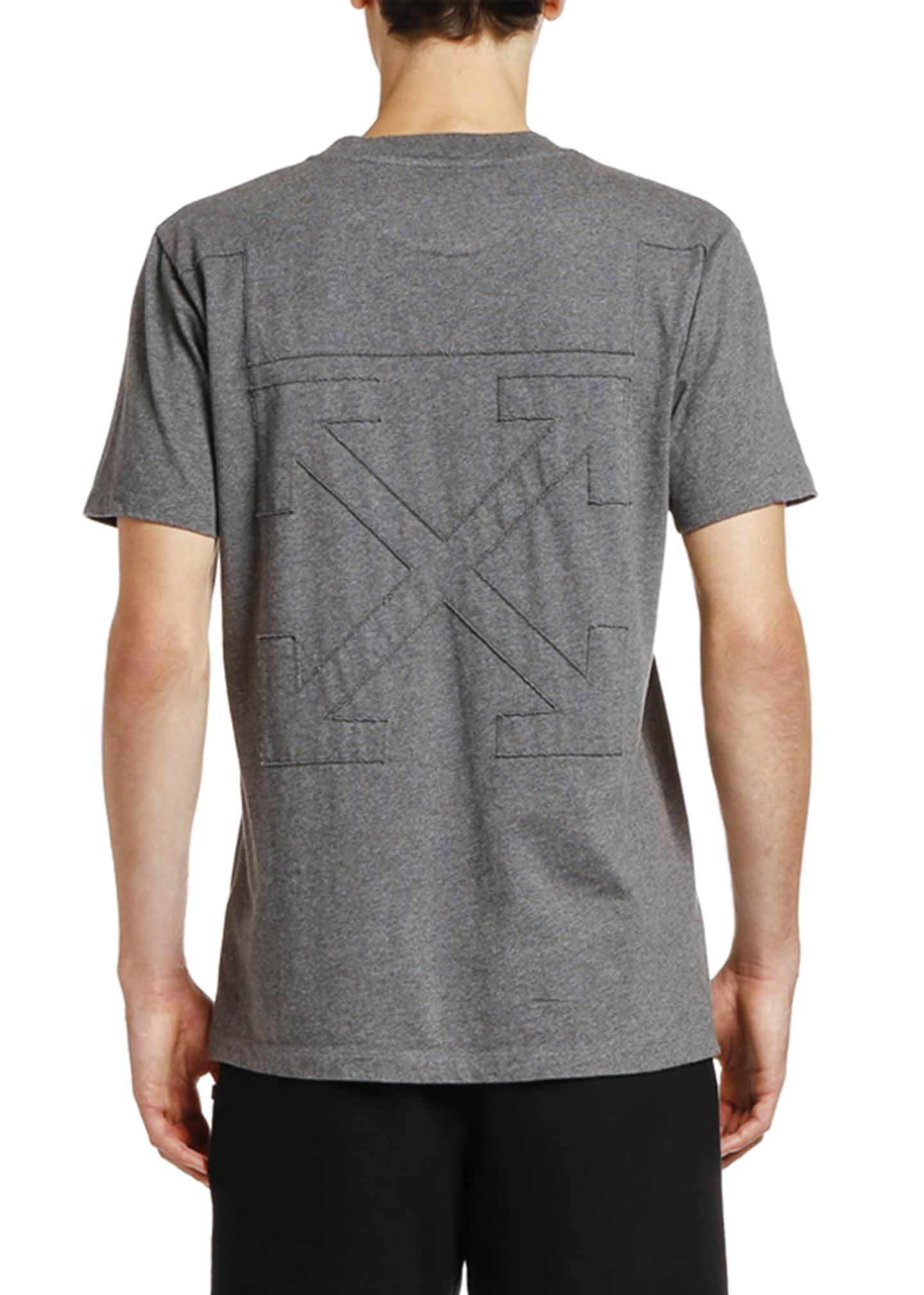 Image 2 of 2: Men's Arrow Logo Graphic Slim T-Shirt