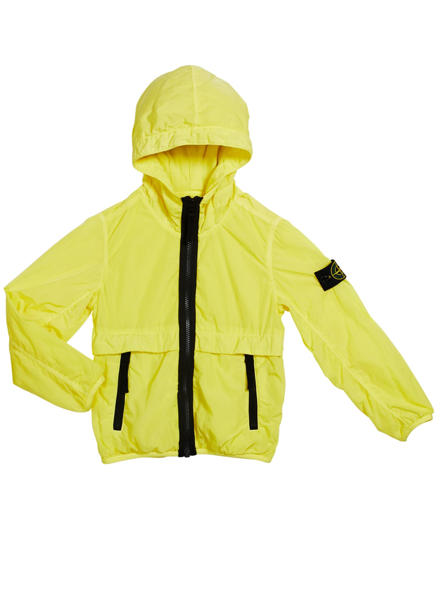Image 1 of 1: Boy's Lightweight Hooded Jacket w/ Contrast Trim, Size 6-8