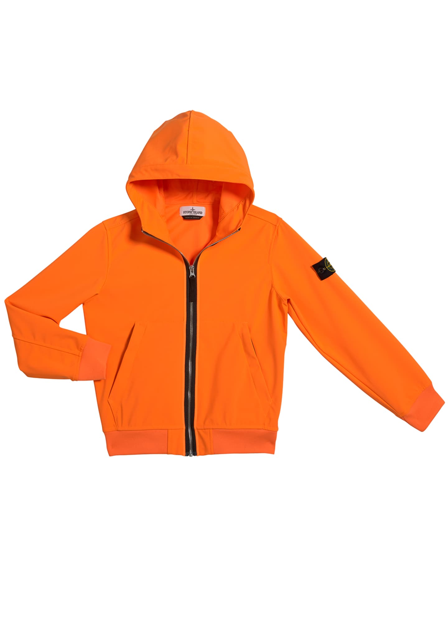 Image 1 of 1: Boy's Tech Hooded Zip-Up Jacket, Size 10-12