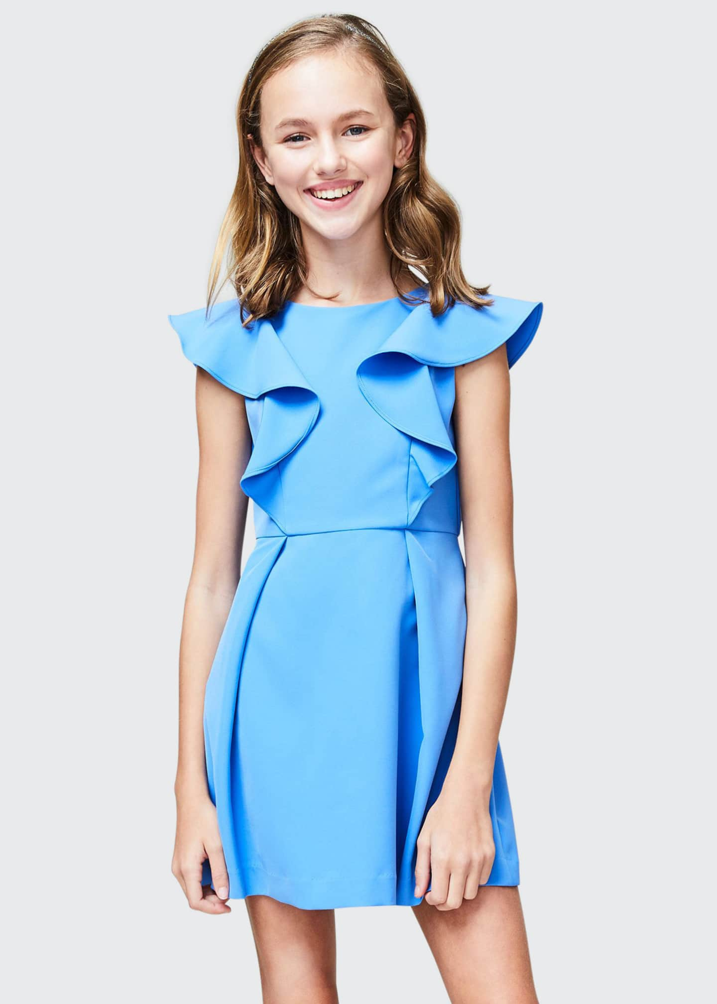 Image 3 of 3: Girl's Cady Waterfall Sleeves Dress, Size 7-16