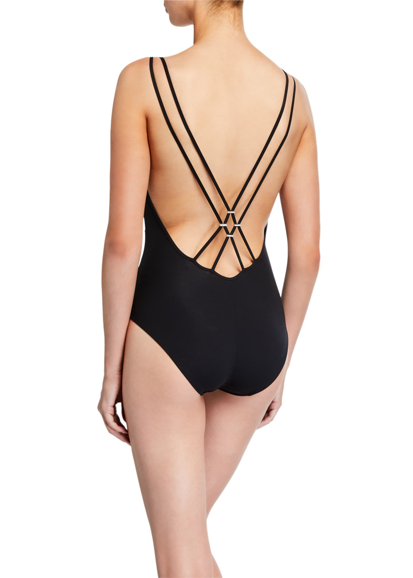 Image 2 of 2: Exception Couture Strappy One-Piece Swimsuit
