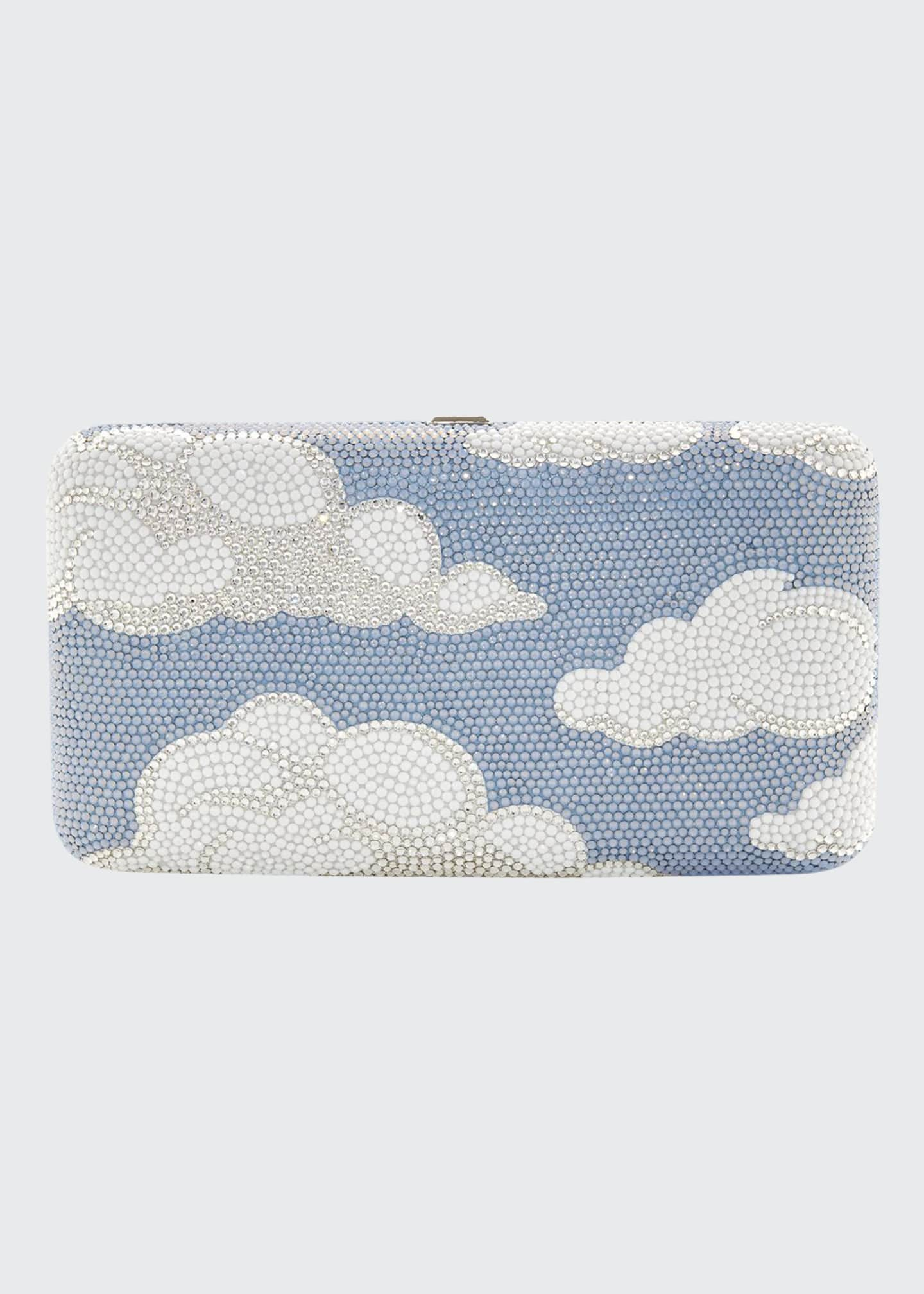 Judith Leiber Couture Clouds Smooth Rectangular Crystal Clutch