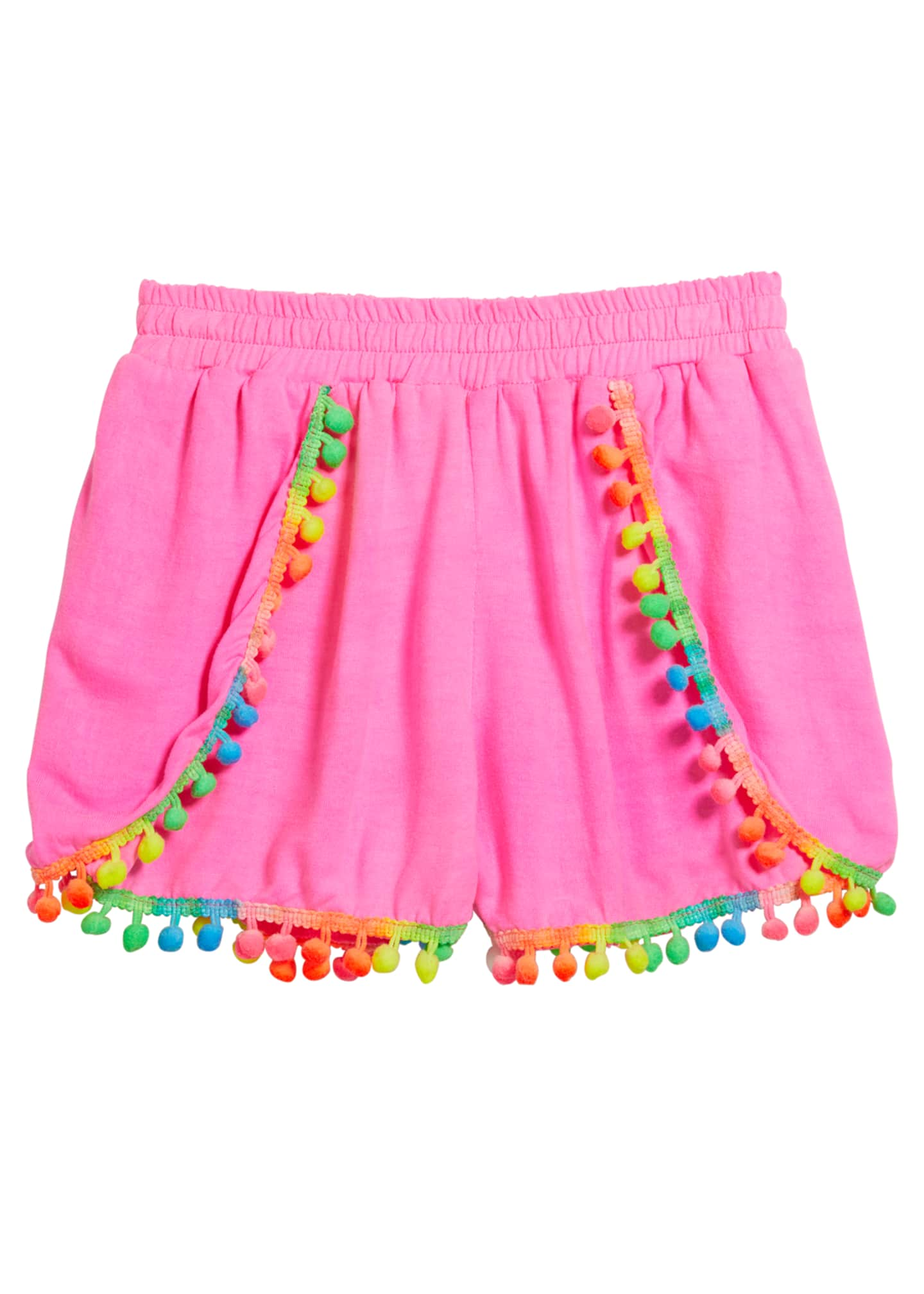 Image 1 of 1: Girl's Pompom Shorts, Size S-XL