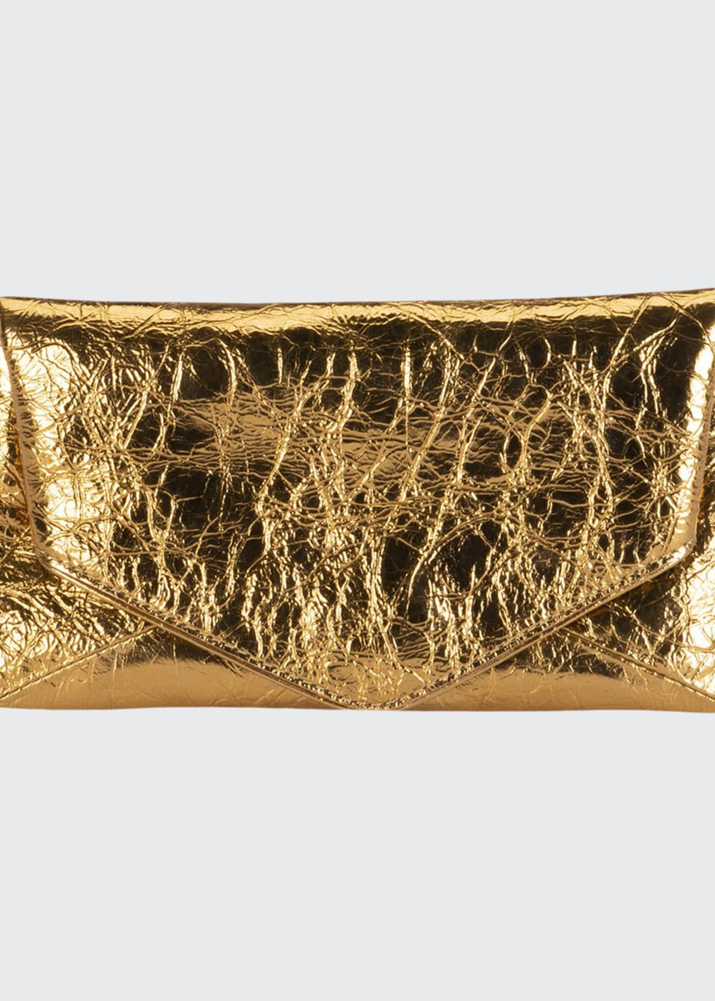 Dries Van Noten Small Metallic Envelope Clutch Bag