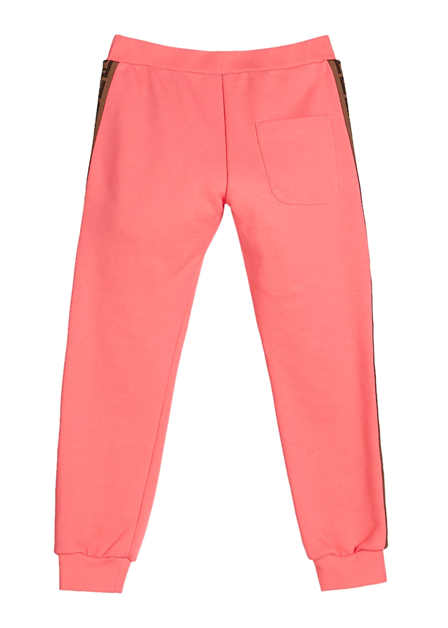 Image 2 of 2: Girl's FF Logo Trim Sweatpants, Size 8-14