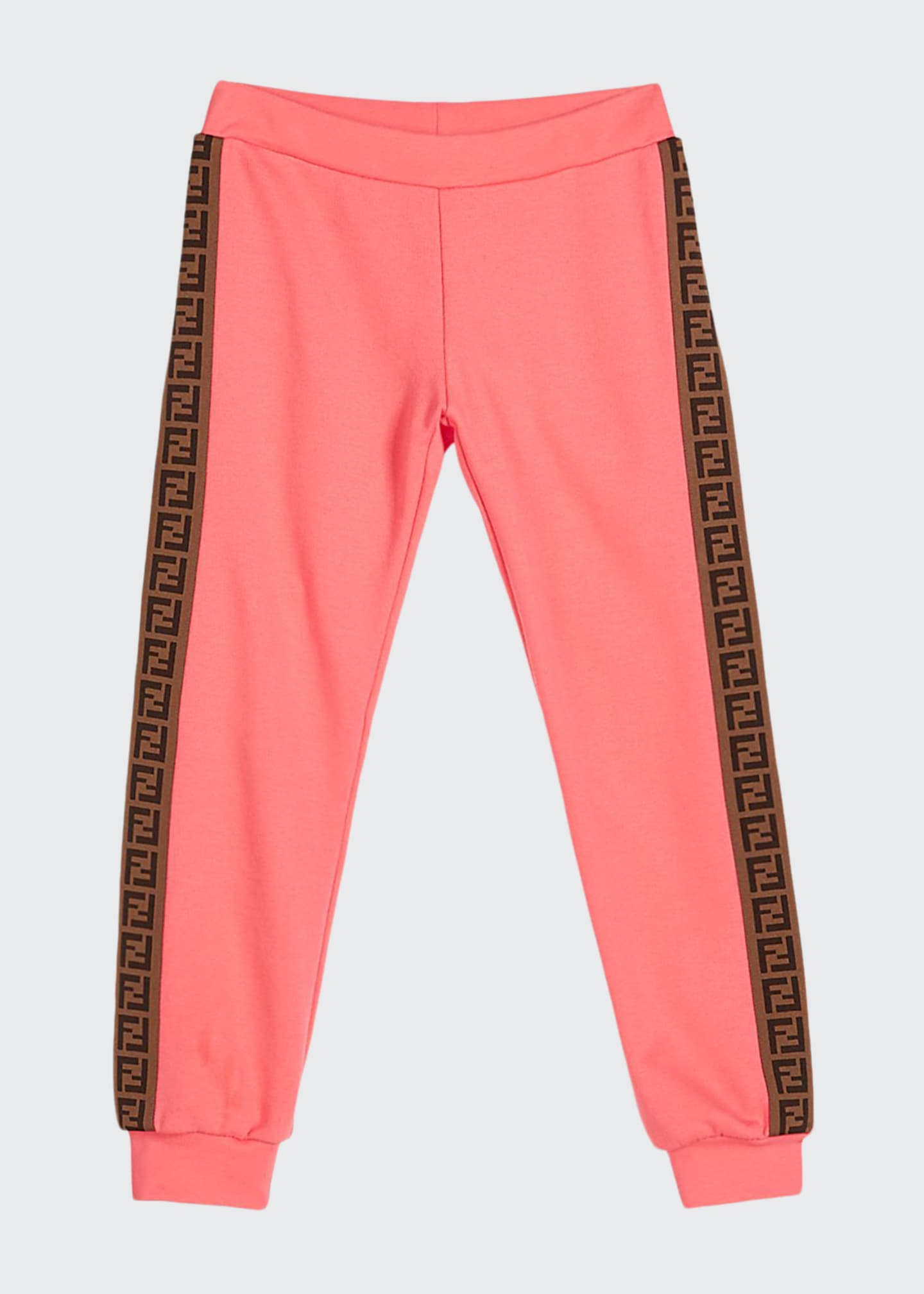 Image 1 of 2: Girl's FF Logo Trim Sweatpants, Size 8-14