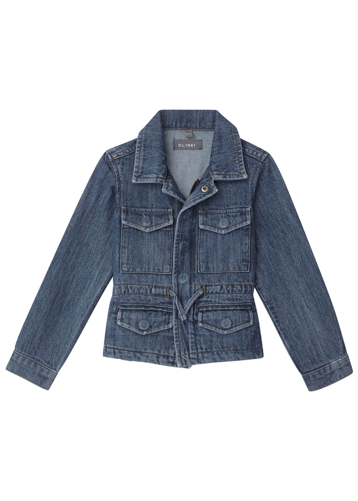 DL1961 Premium Denim Girl's Rocco Utility Jacket, Size