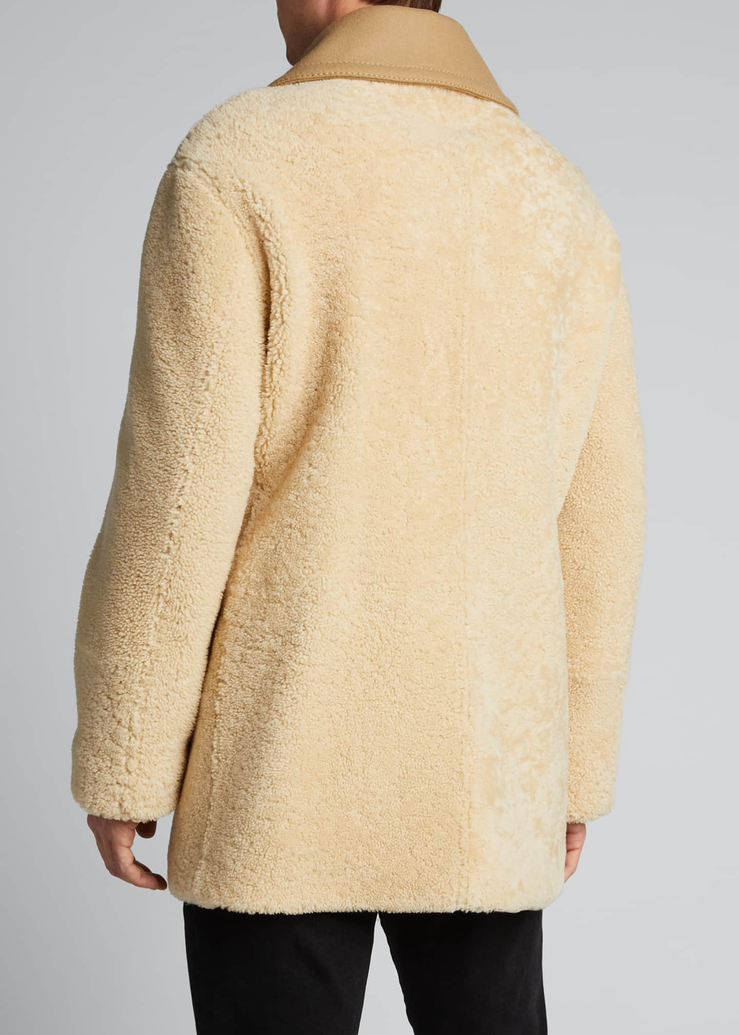 Image 2 of 5: Men's Pickwell Shearling Double-Breasted Coat