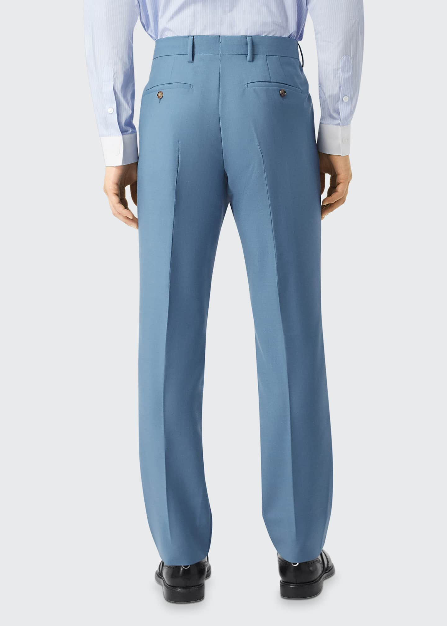 Image 2 of 3: Men's High-Rise Mohair-Wool Suit Pants