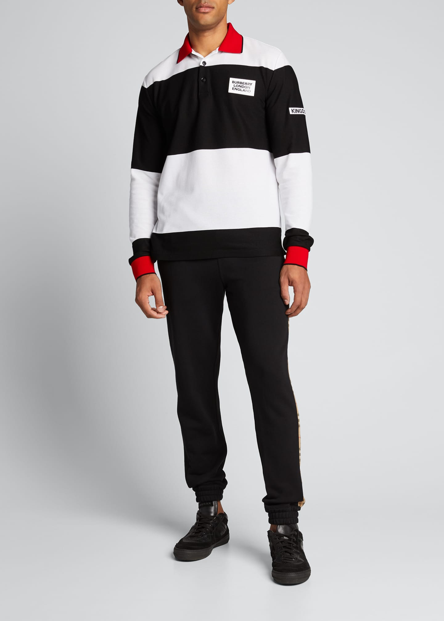 Burberry Men's Copland Long-Sleeve Polo Shirt
